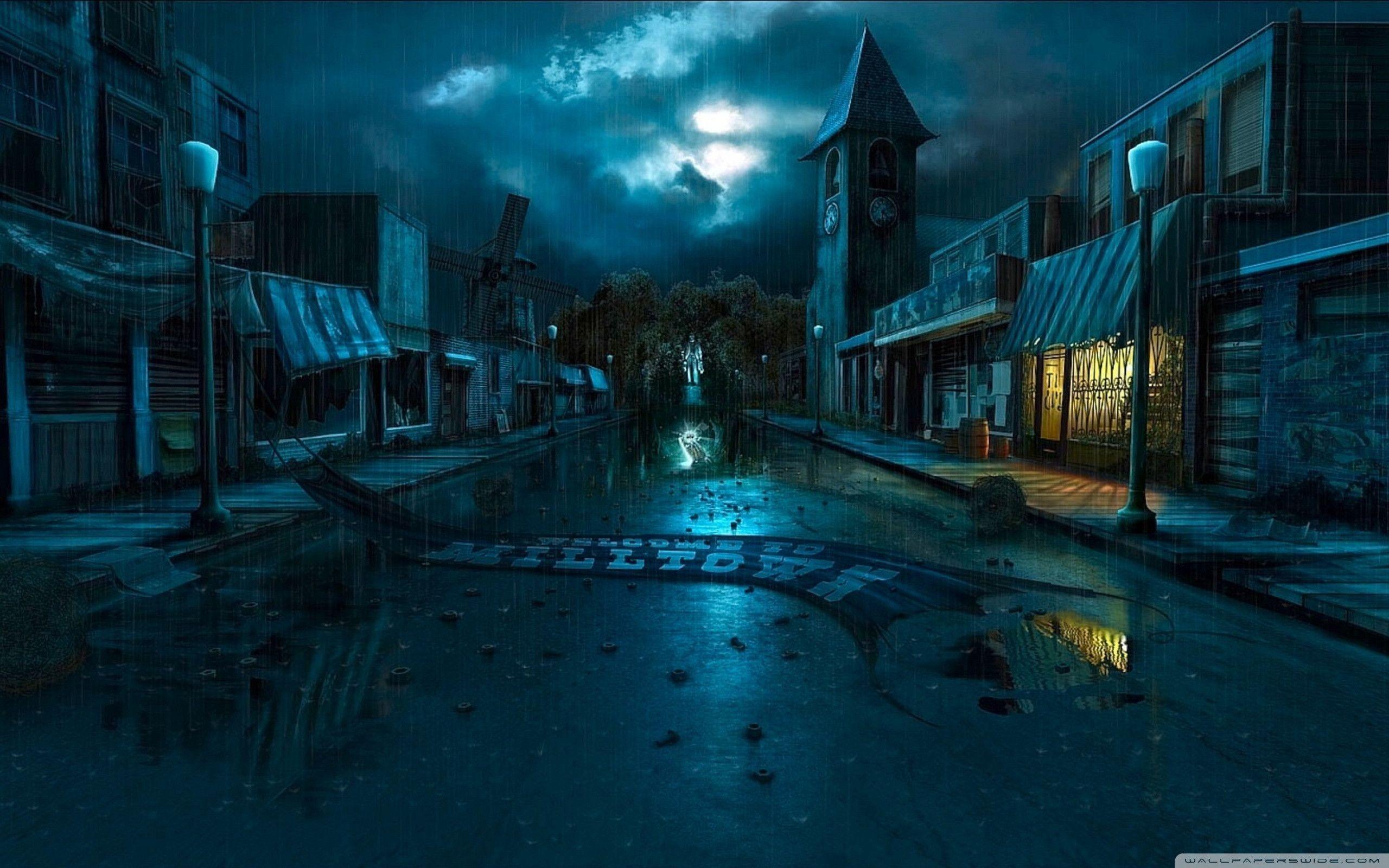 Dark City Street Background – Viewing Gallery