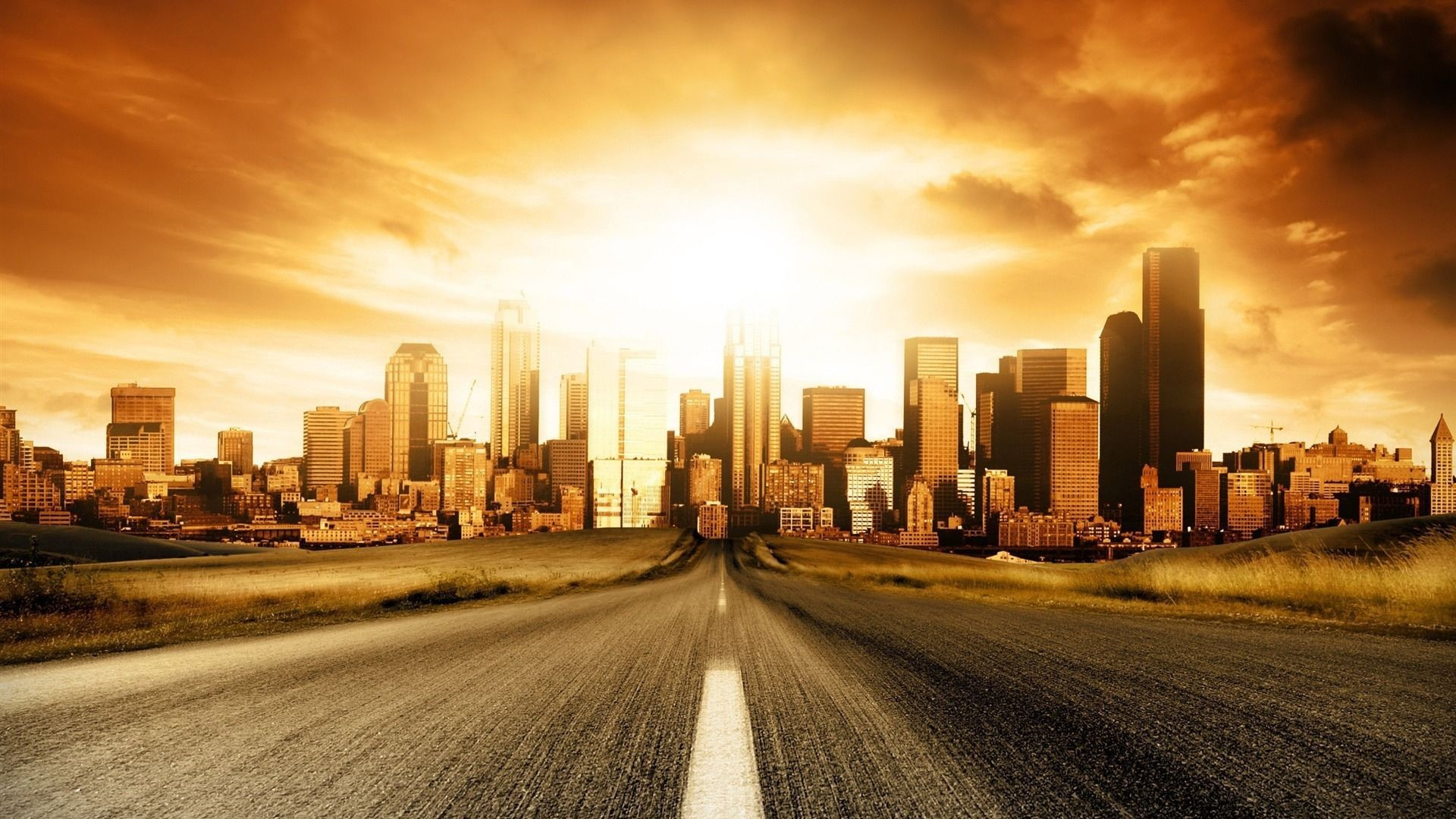road to city-The urban landscape photography Desktop Wallpapers . …