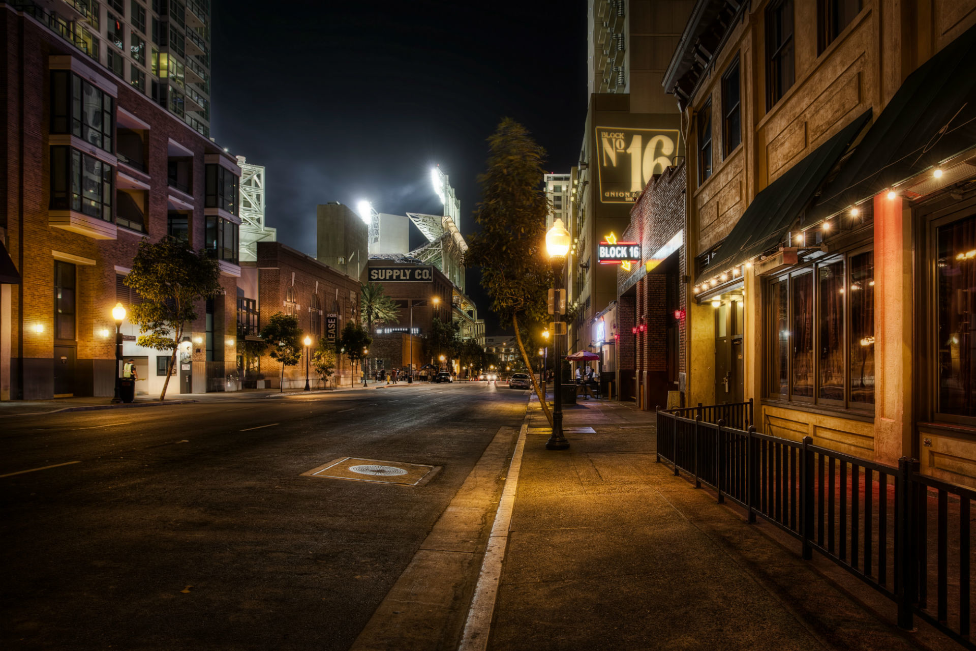 High Resolution City Street at Night Background Wallpaper HD 3 .