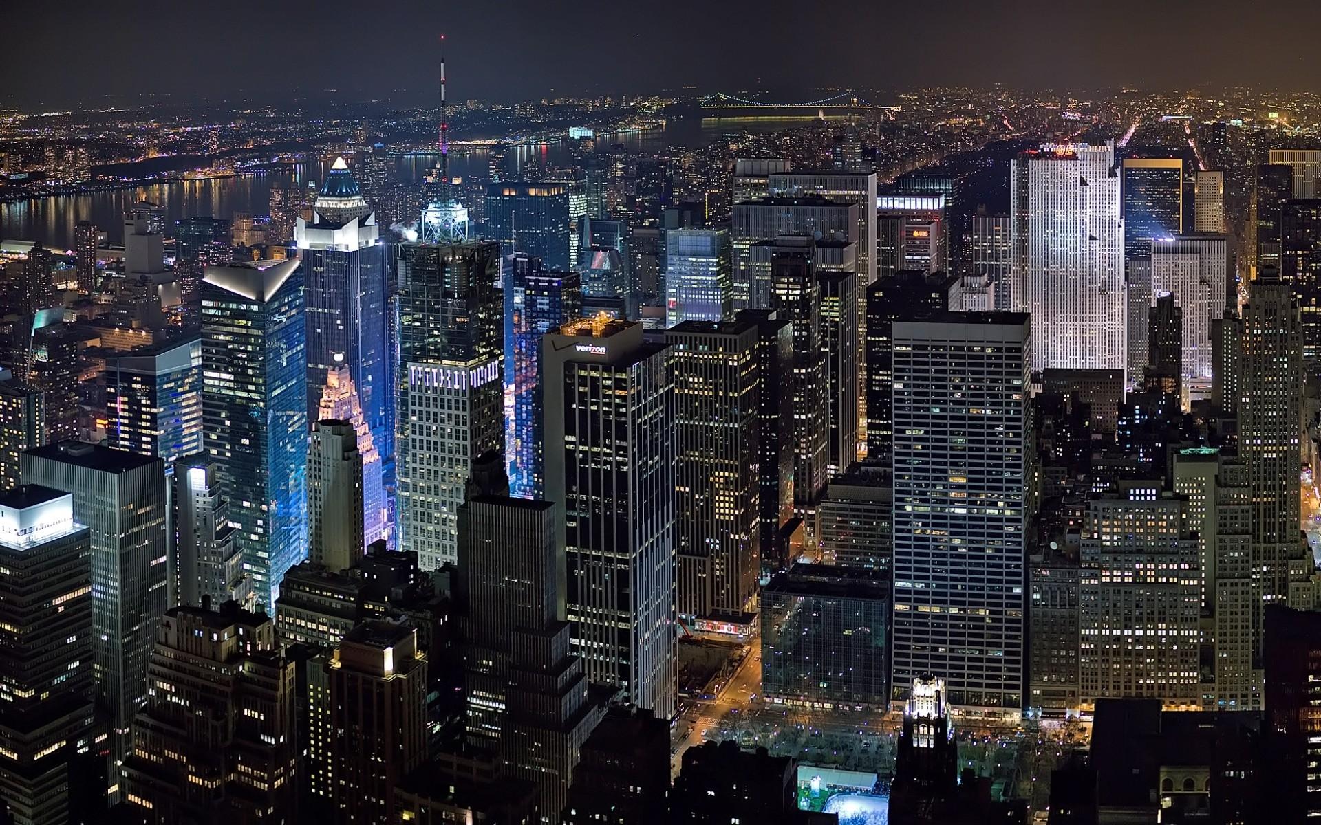 New York City At Night Wallpaper Free Desktop