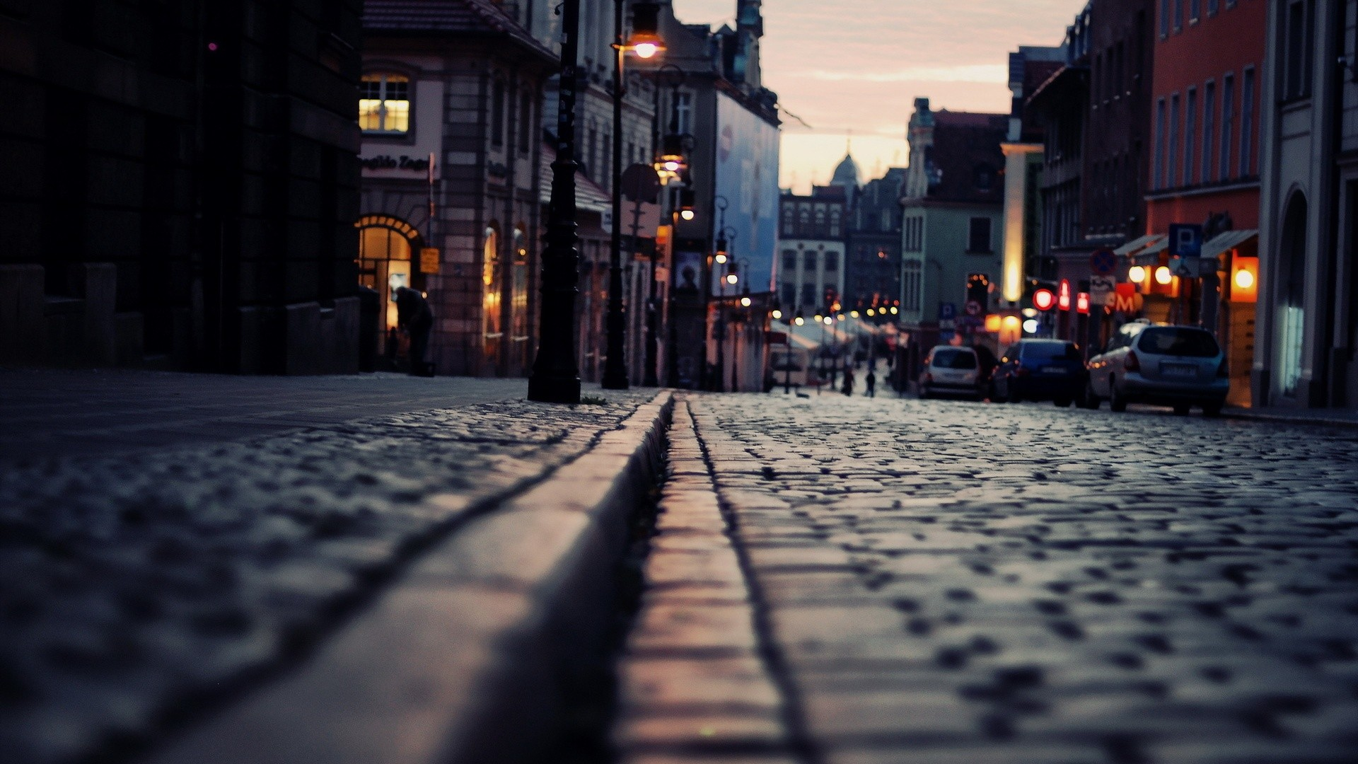 Night city street Wallpaper, Desktop Wallpapers, Free Wallpapers .