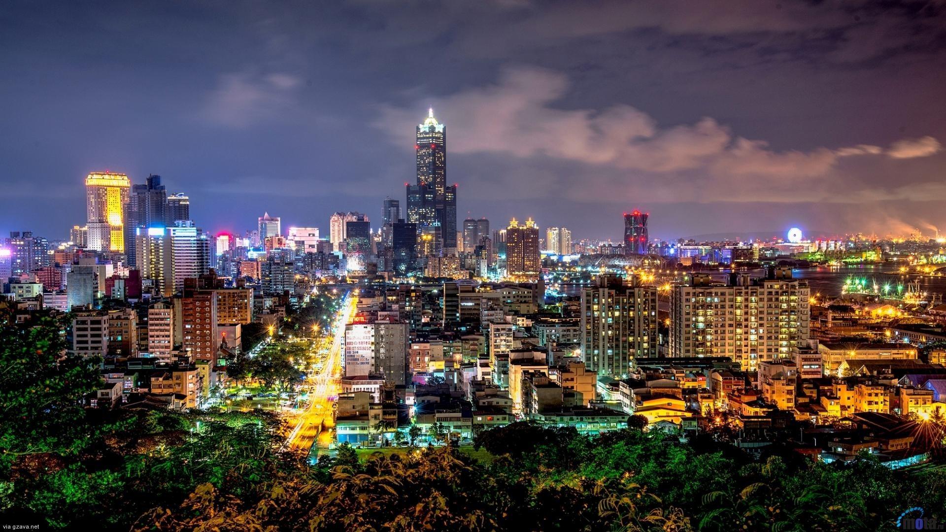 Taiwan City At Night