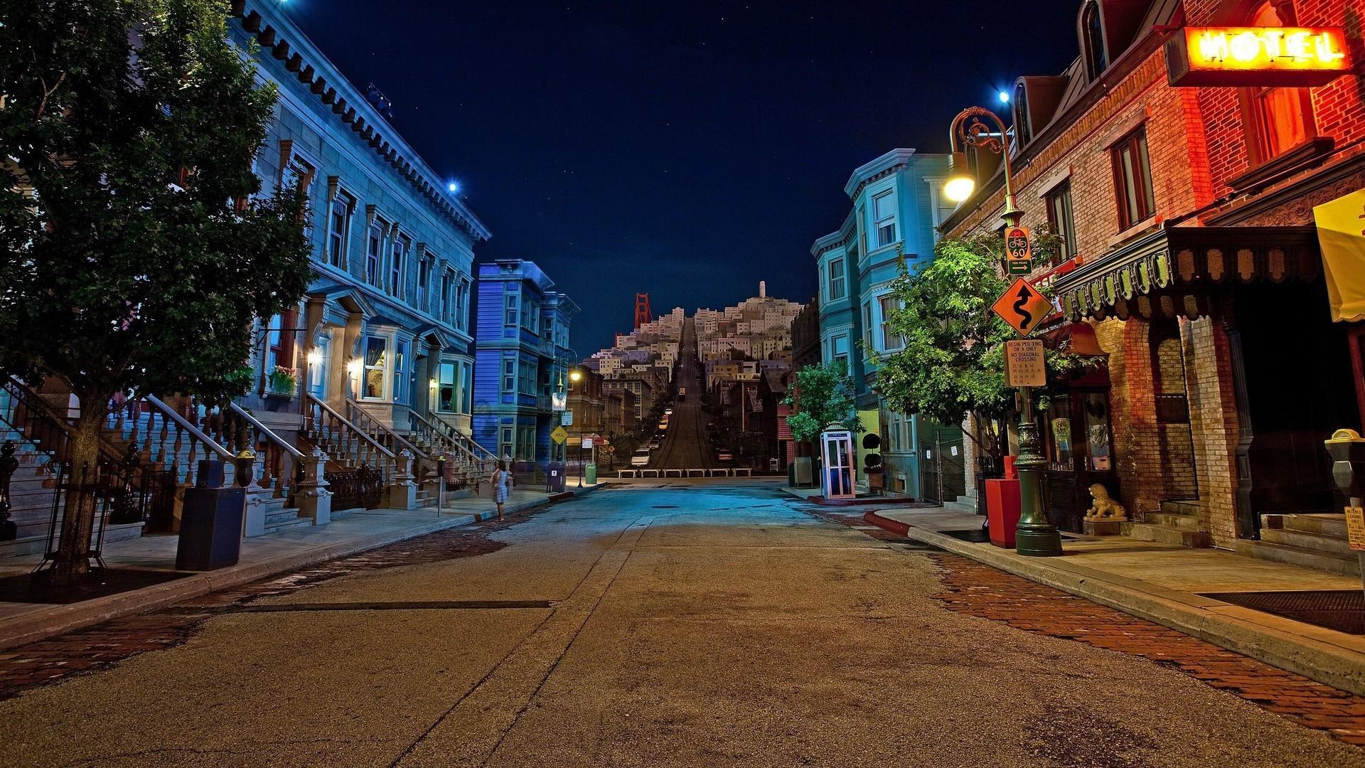 City Street at Night   STREETS NIGHT   Pinterest   Night city, 3d wallpaper  and Wallpaper