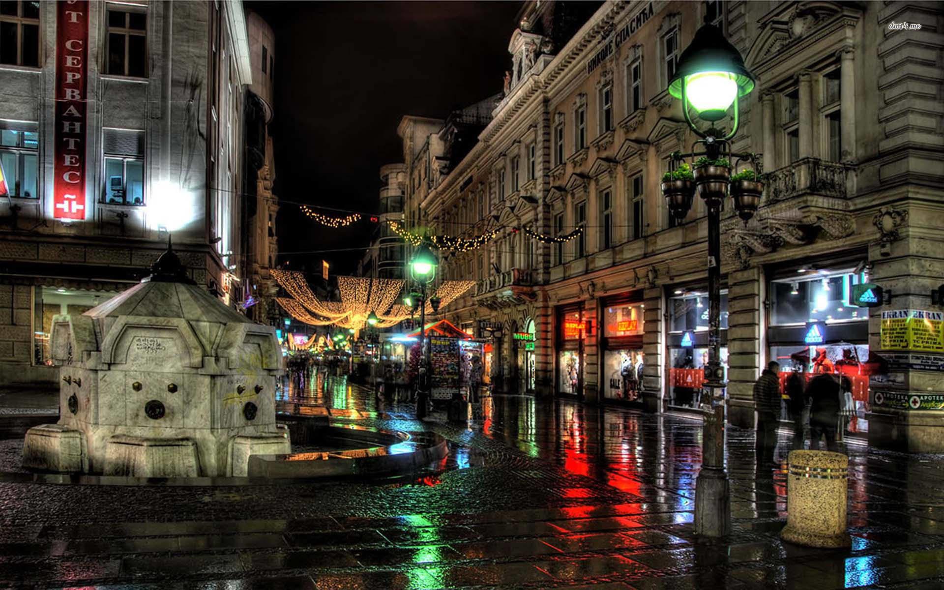City After Rain Wallpaper