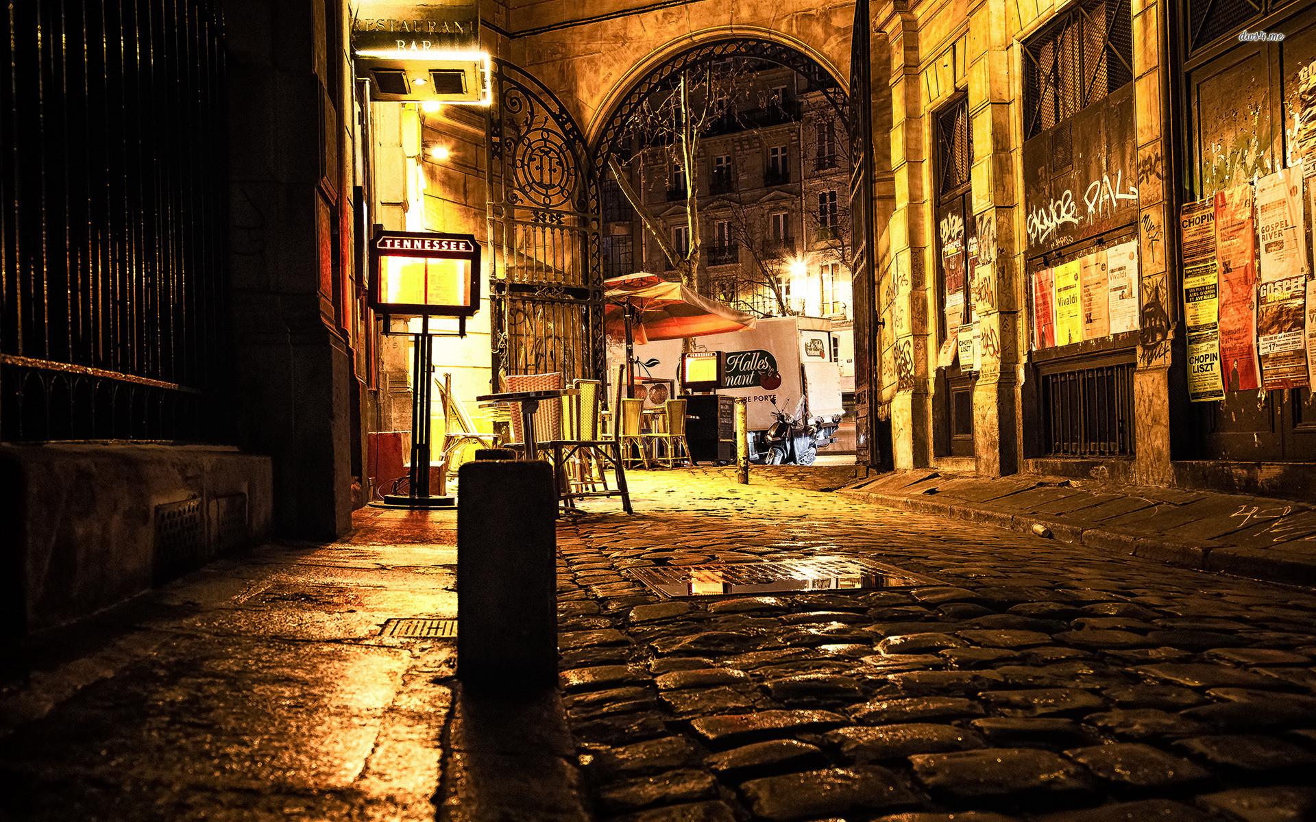 Cobblestone Street In Paris wallpapers HD free – 386305