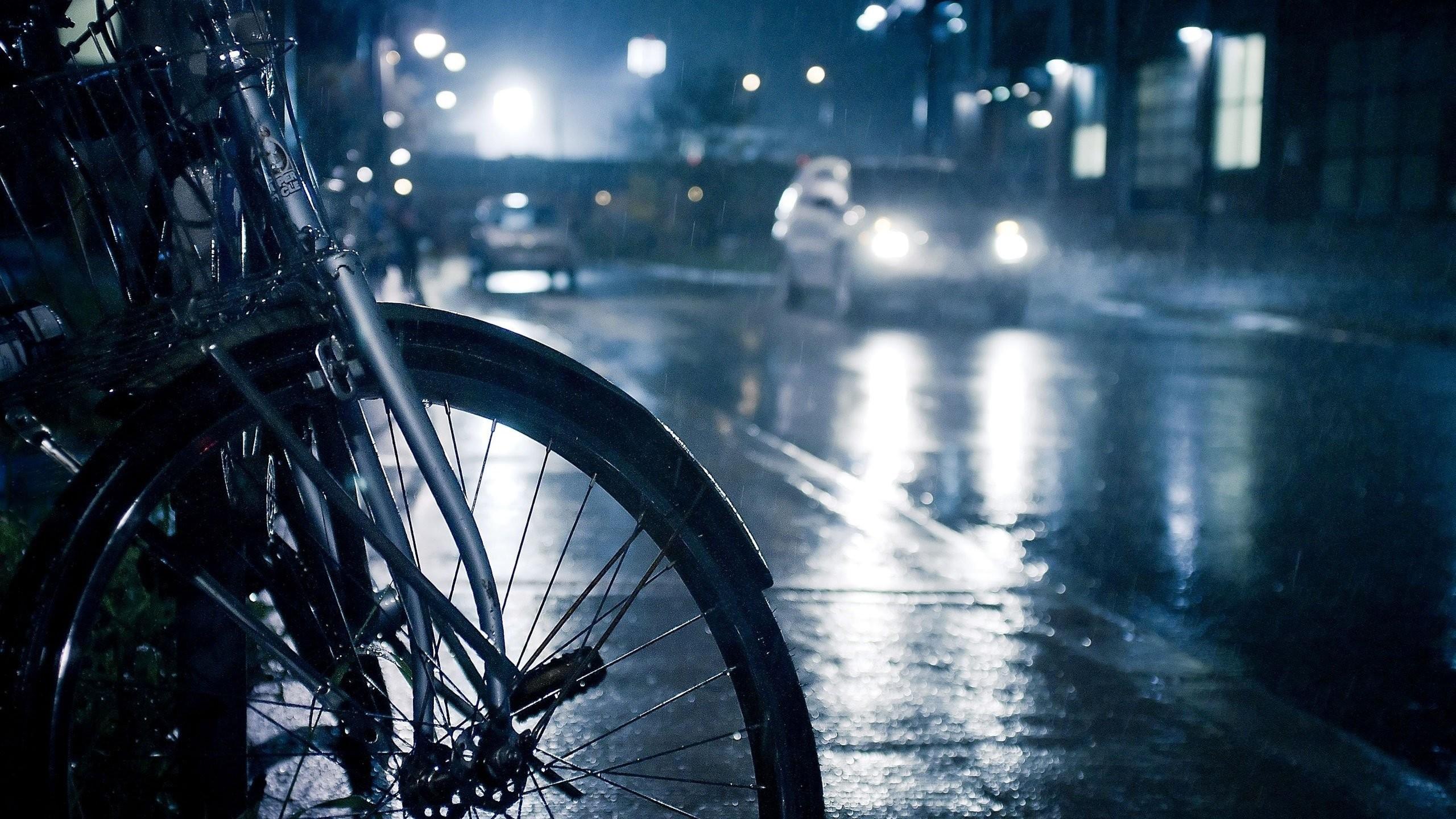 Night City Street Rain