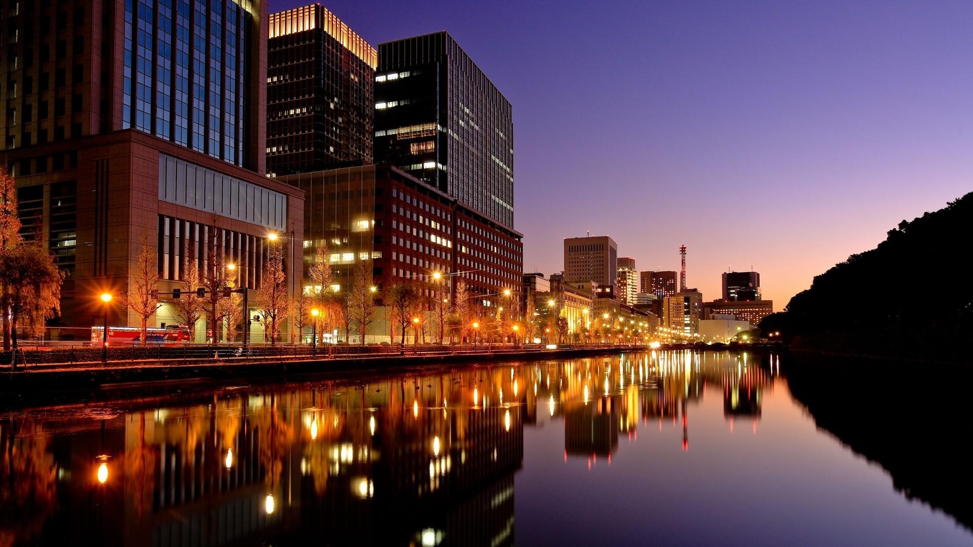 Preview wallpaper tokyo, japan, city, night, lights 1920×1080
