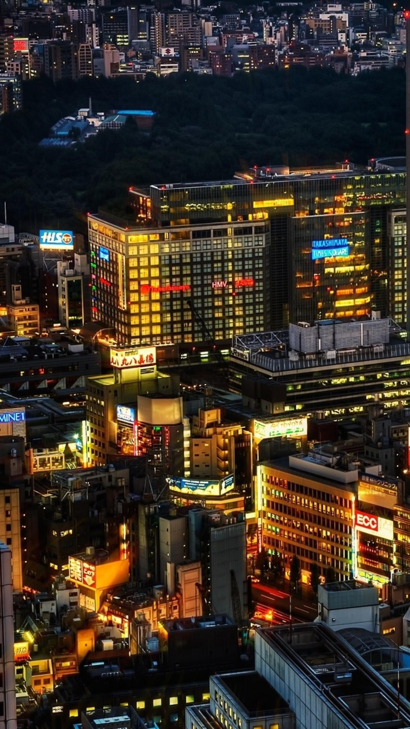 Preview wallpaper tokyo, japan, night, lights 1440×2560