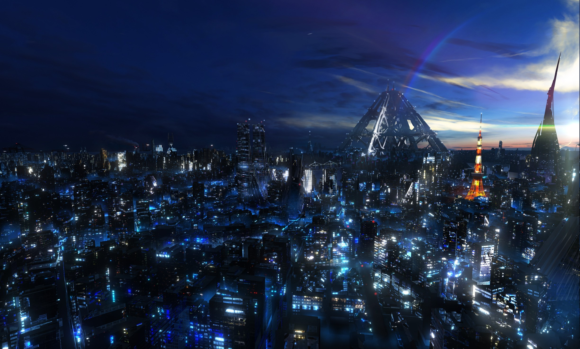 cityscape, Night, Guilty Crown, Anime, Tokyo Wallpapers HD / Desktop and  Mobile Backgrounds