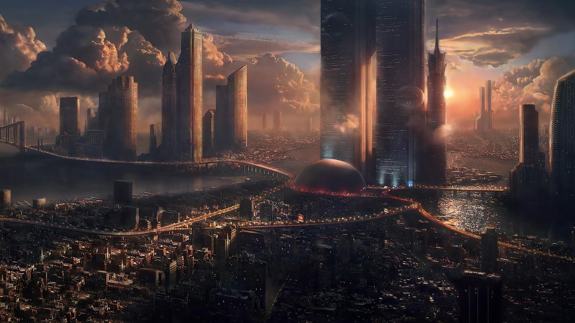 Futuristic City Wallpaper 20