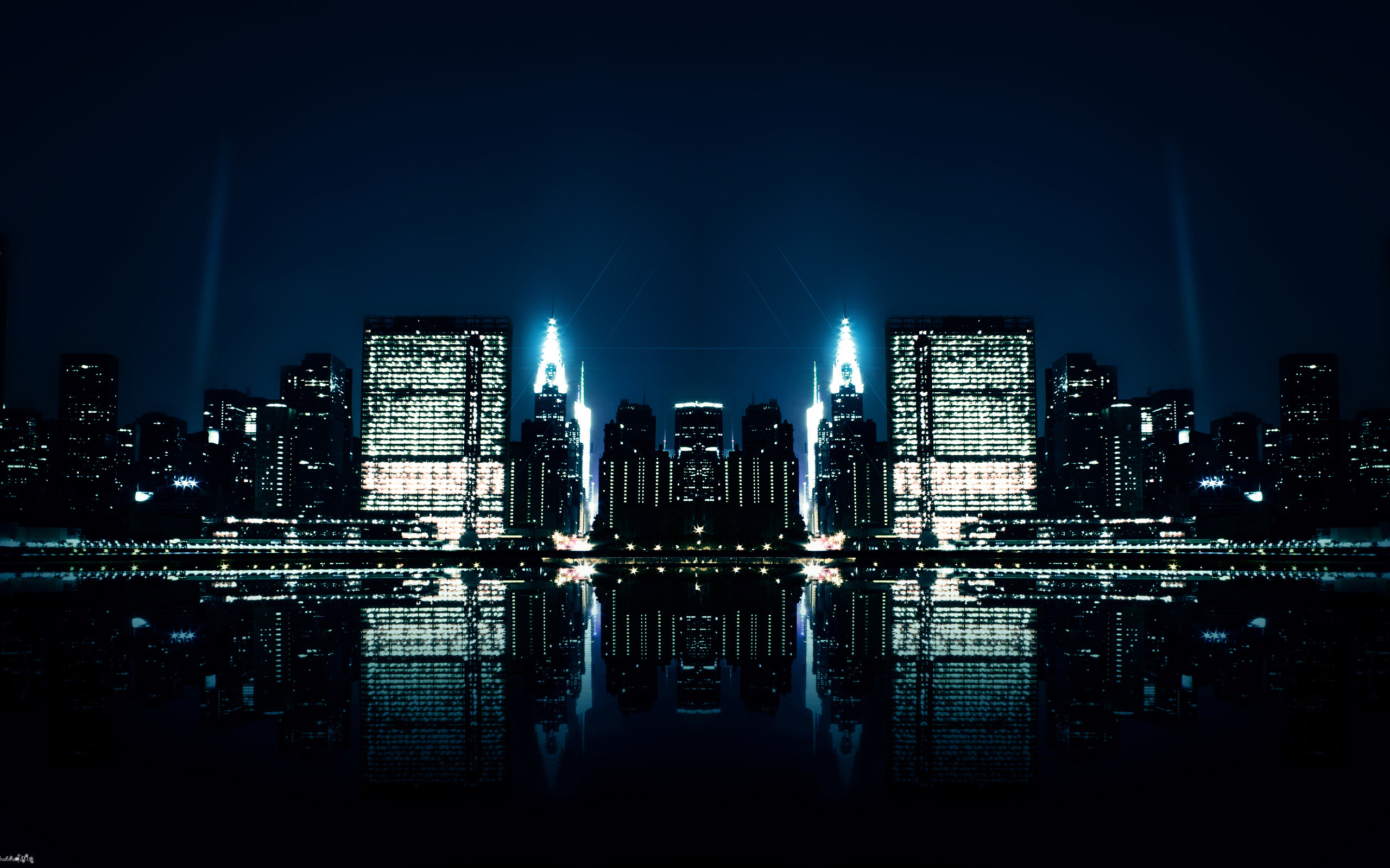 City Night Reflections Wallpapers | HD Wallpapers