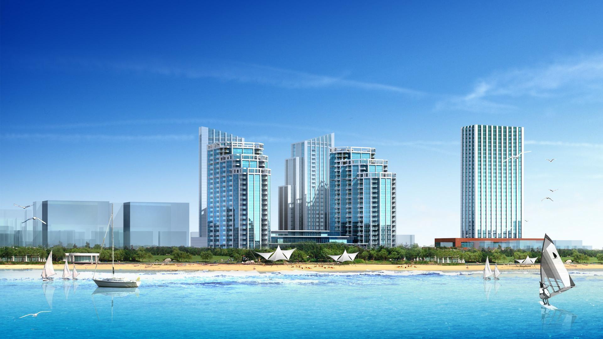 cool hd coastal city desktop background wide wallpapers:1280×800,1440×900,1680×1050  –