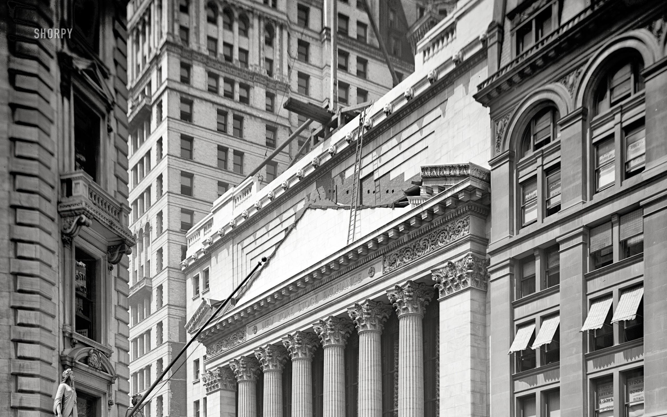 black and white usa new york city manhattan grayscale wall street  historical constructions new york Art
