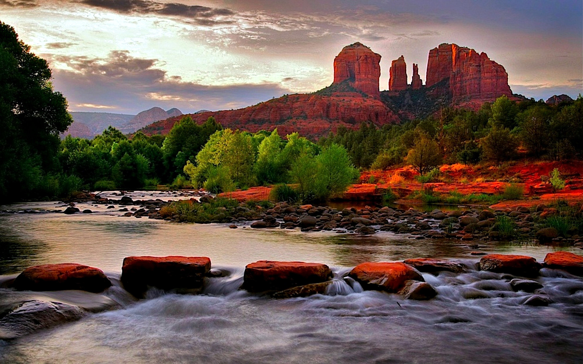 sedona arizona canyons river wallpaper