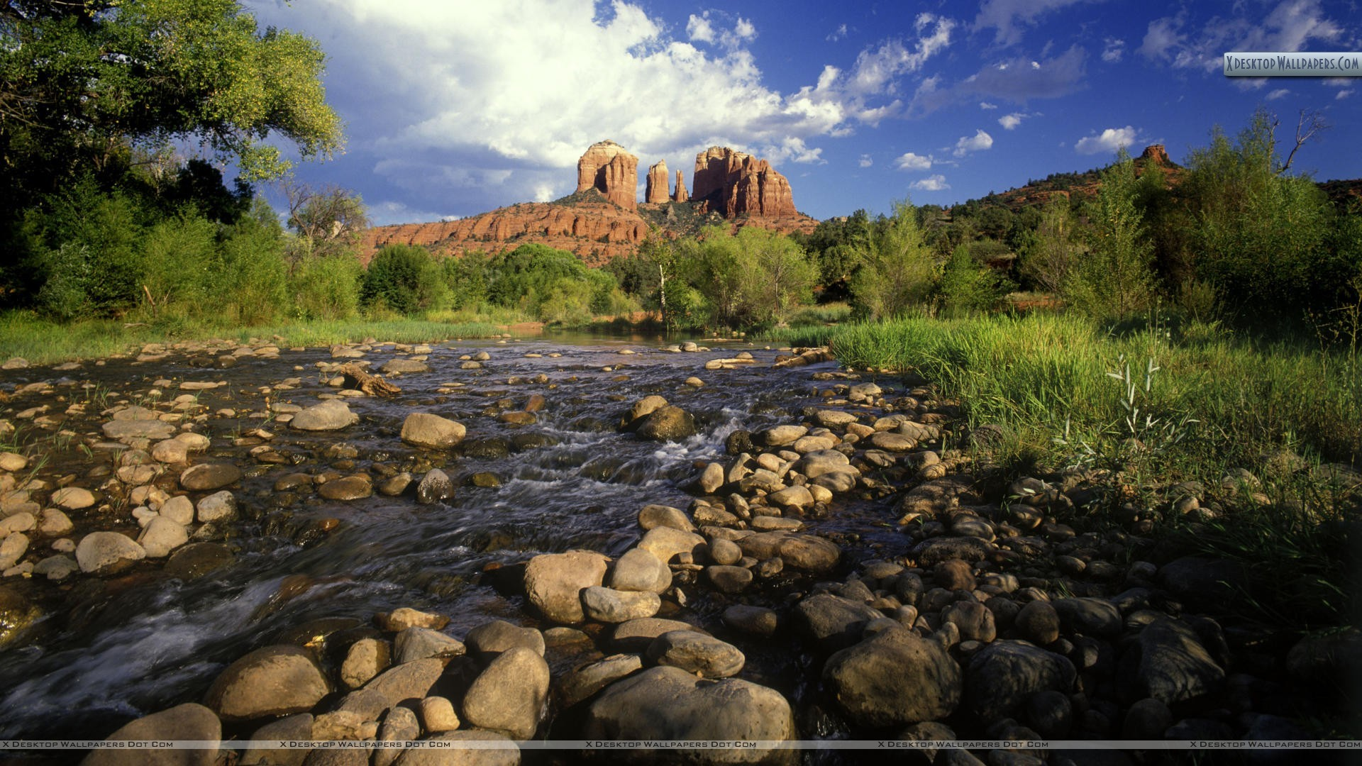 Cathedral Rock and Red Rock Crossing, Sedona, Arizona Wallpaper