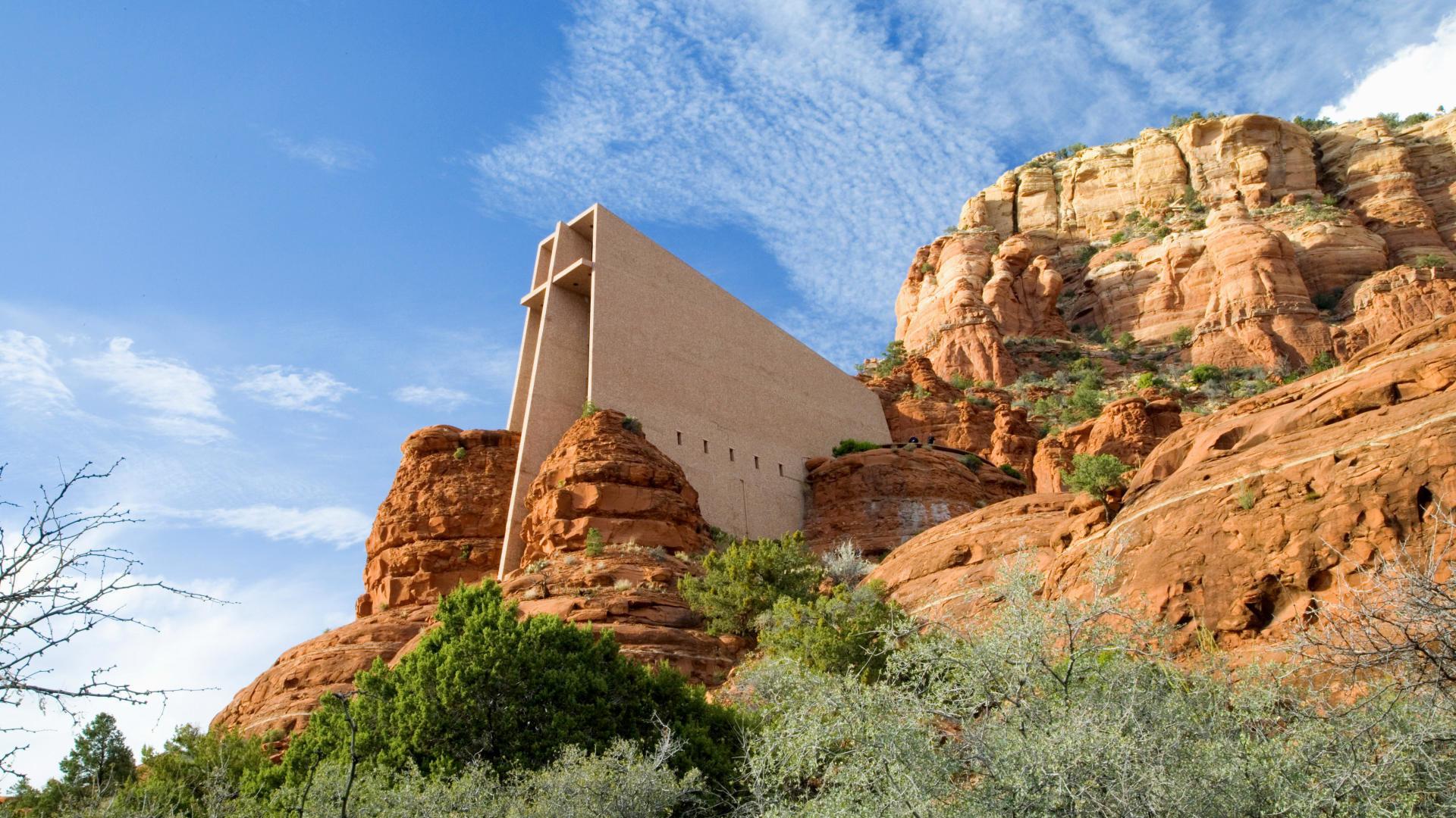Chapel of the Holy Cross, Sedona, Arizona. [Desktop wallpaper 1920×1080]