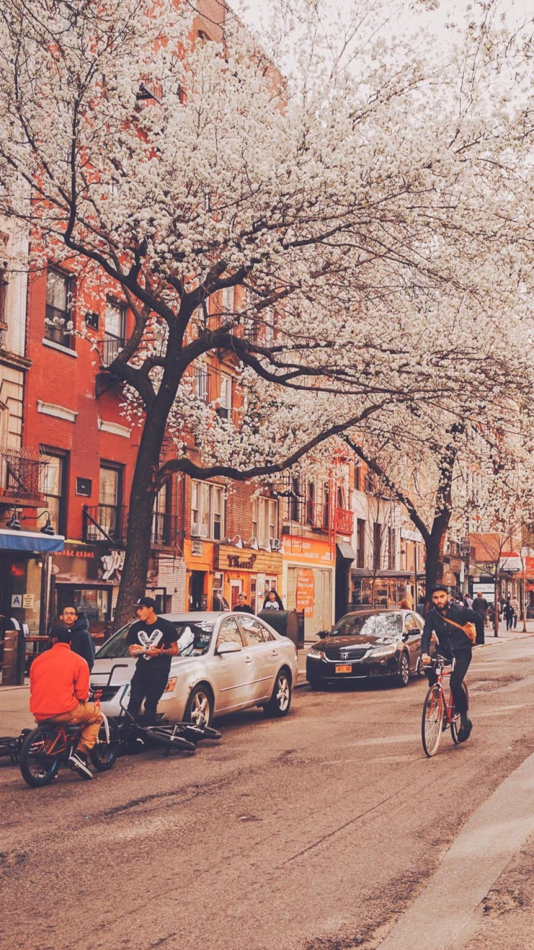 US New York Street City People #iPhone #7 #wallpaper