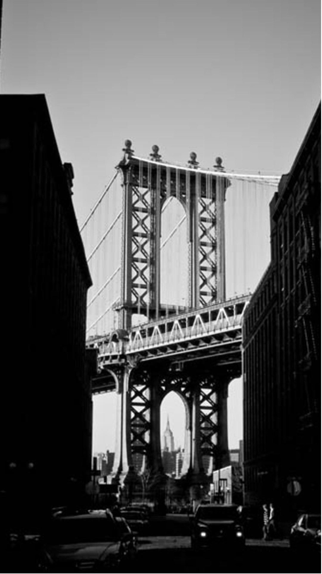 Manhattan Bridge New York Black And White iPhone 6 Plus HD .
