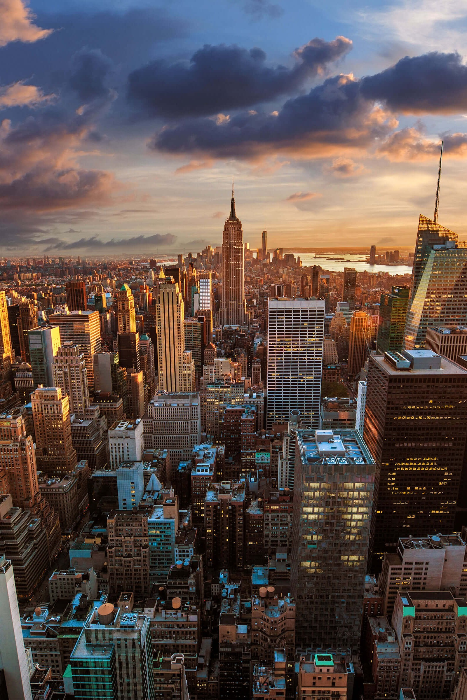 New York City Skyline At Sunset Wallpaper for Amazon Kindle Fire HDX 8 .