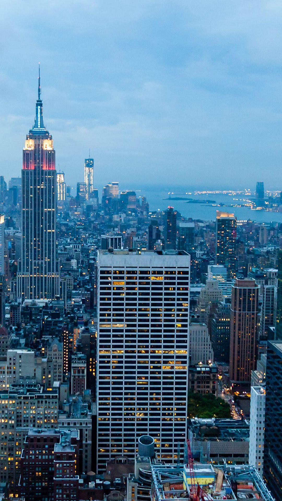 New York City Blue Dusk Android Wallpaper …