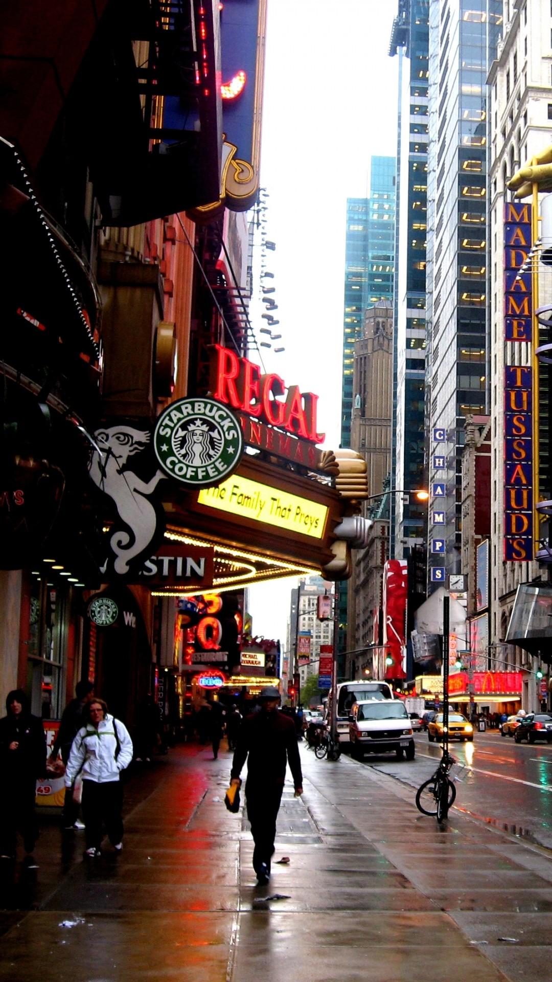 Wallpaper new york, overcast, advertising, building