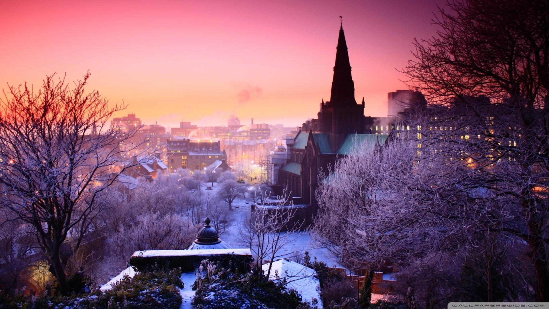 Winter City Desktop Wallpaper