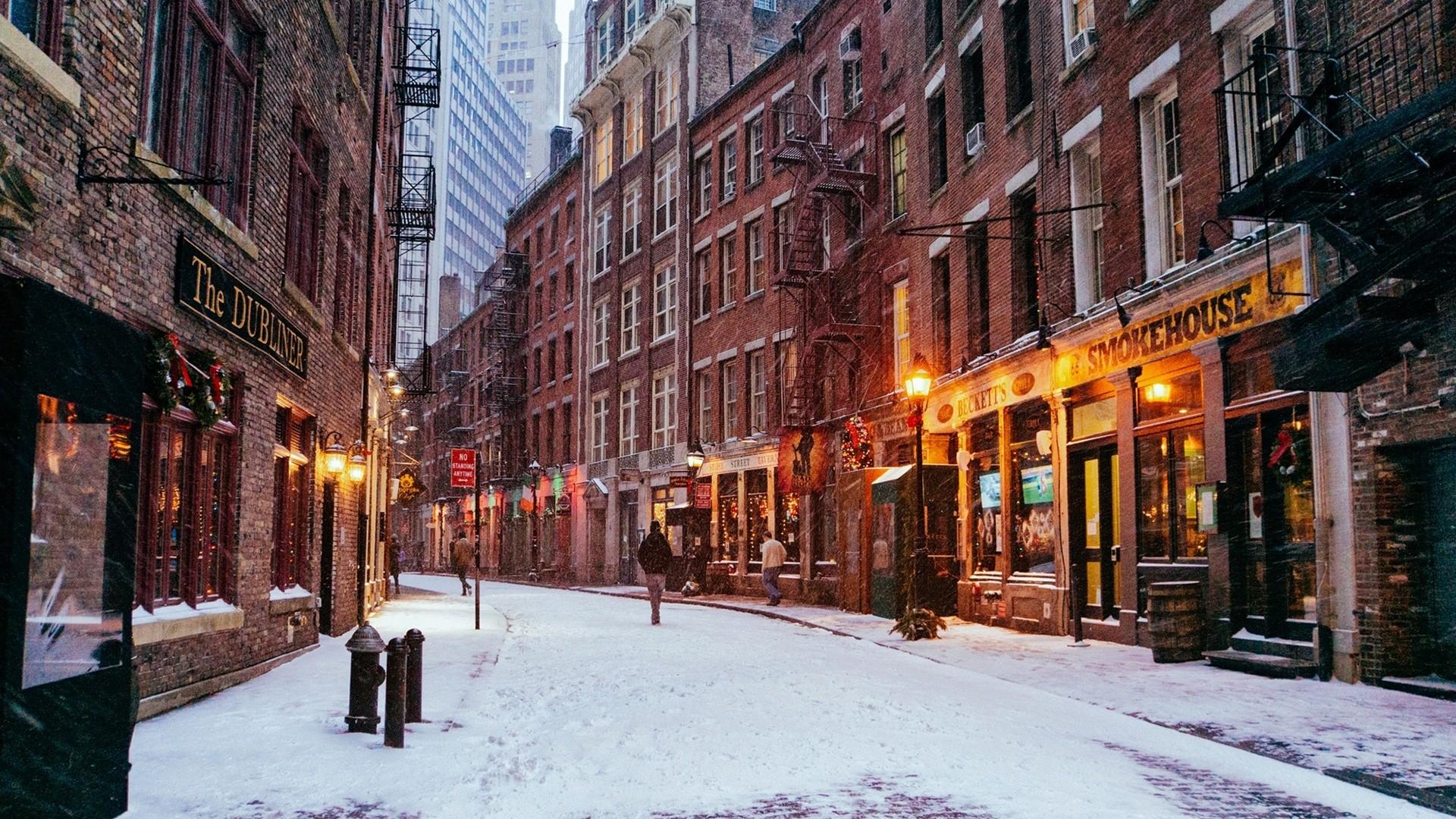Winter City Wallpapers Full Hd