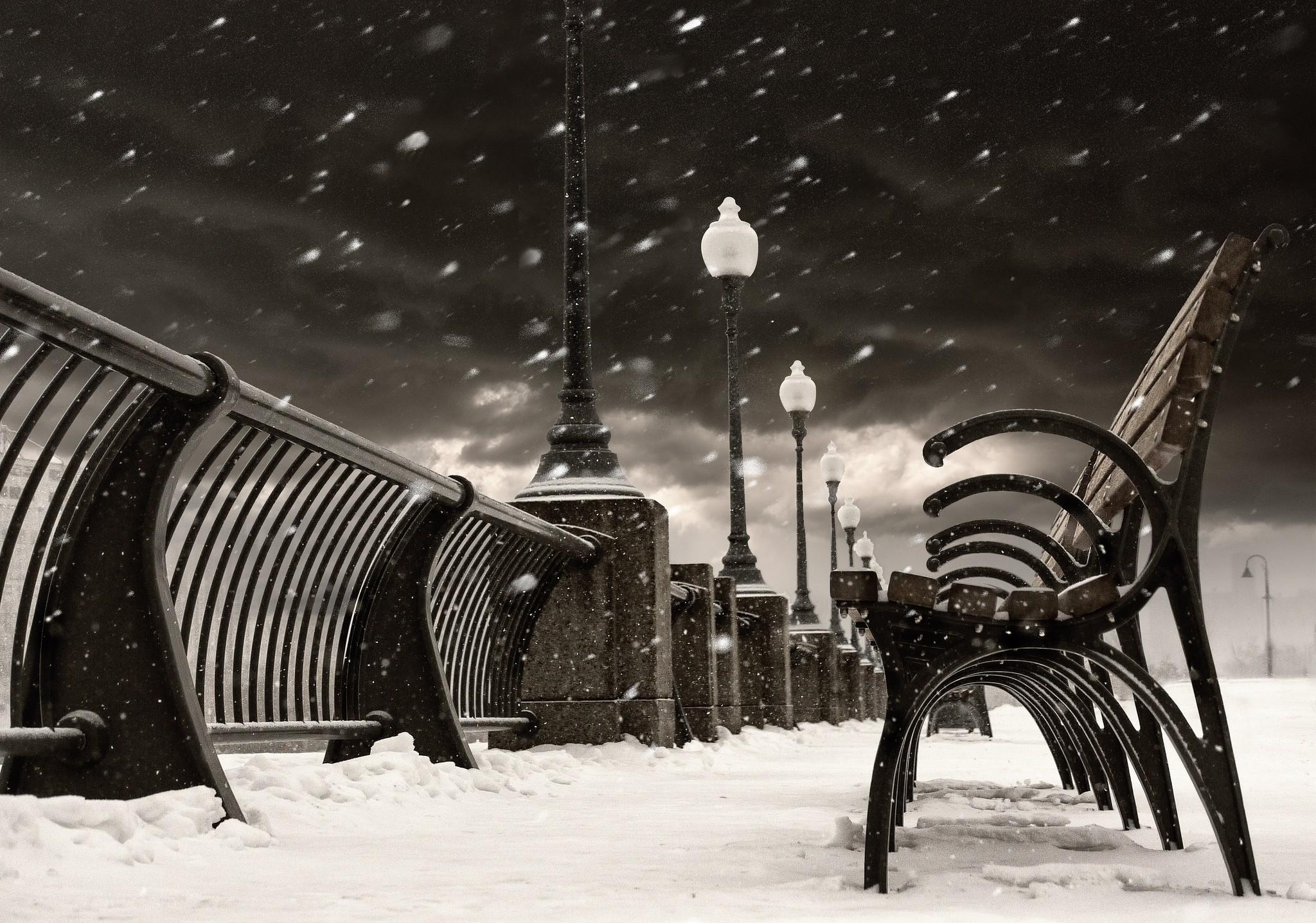 Canada City in Winter
