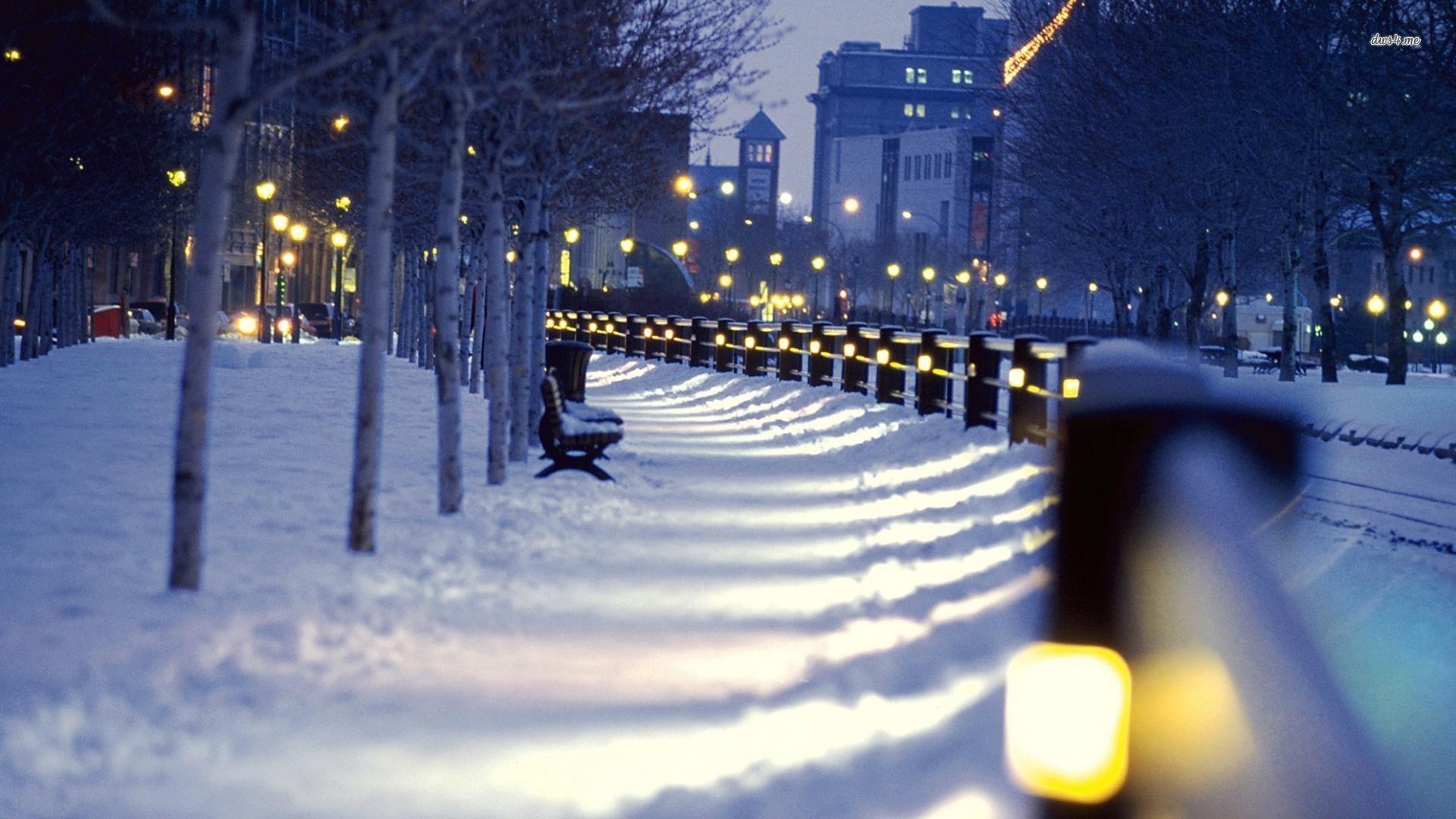 Winter City Wallpaper Widescreen