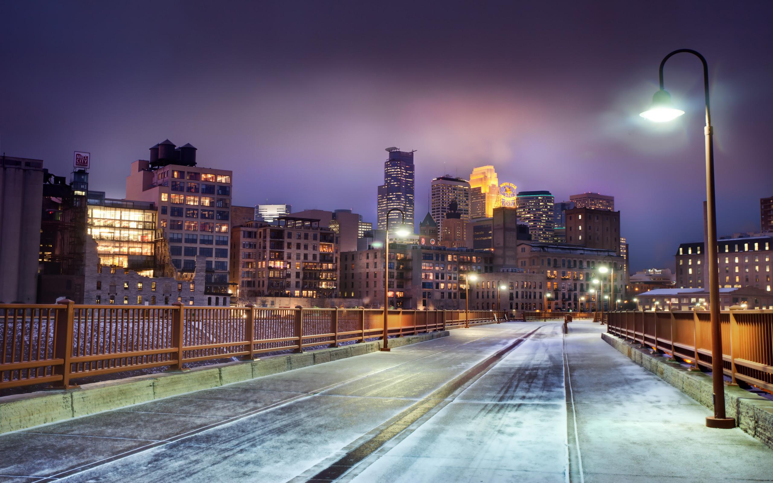 Winter City Wallpaper Background 3328