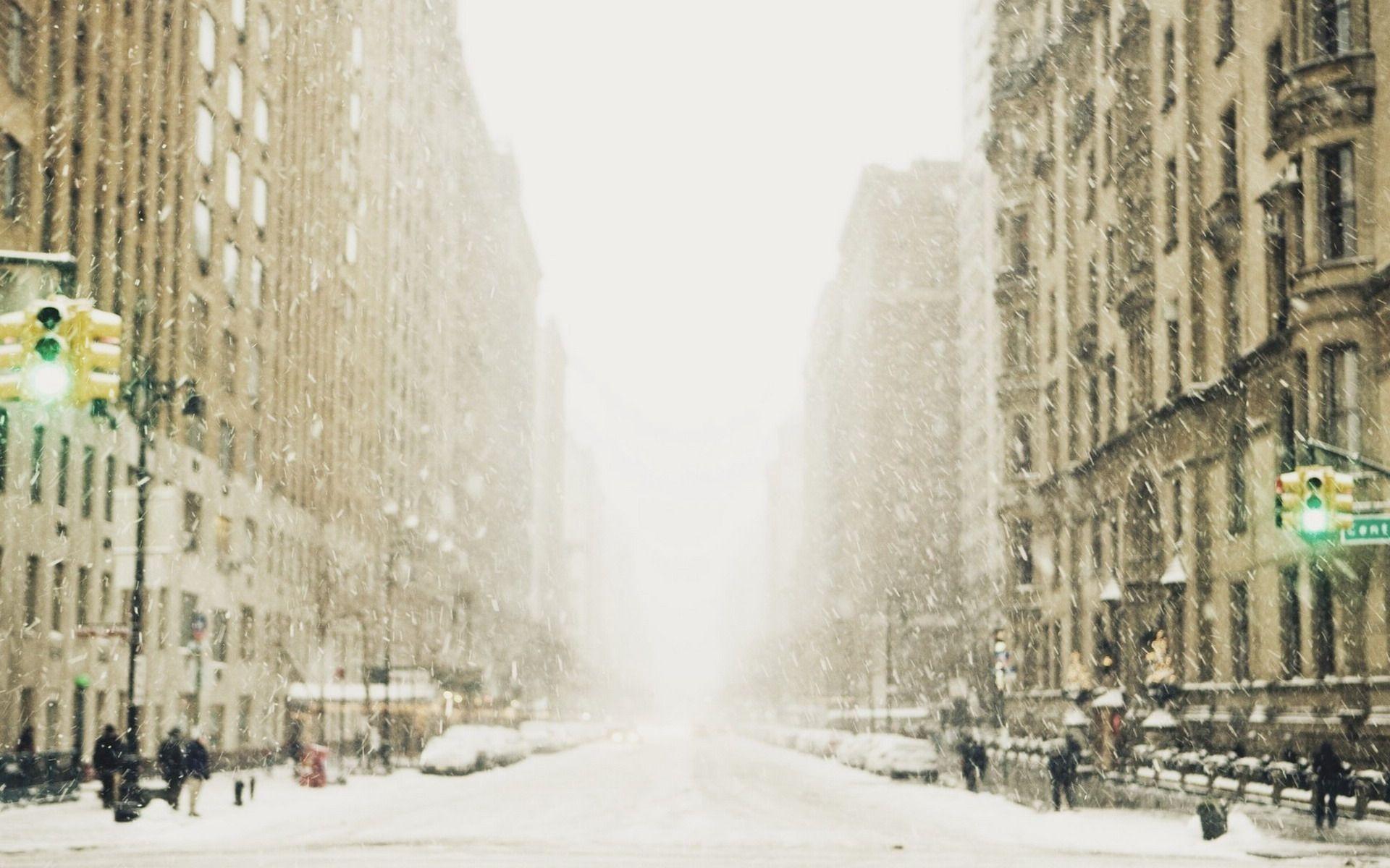 Winter Snow City Street Metropolis wallpaper | Background HD .