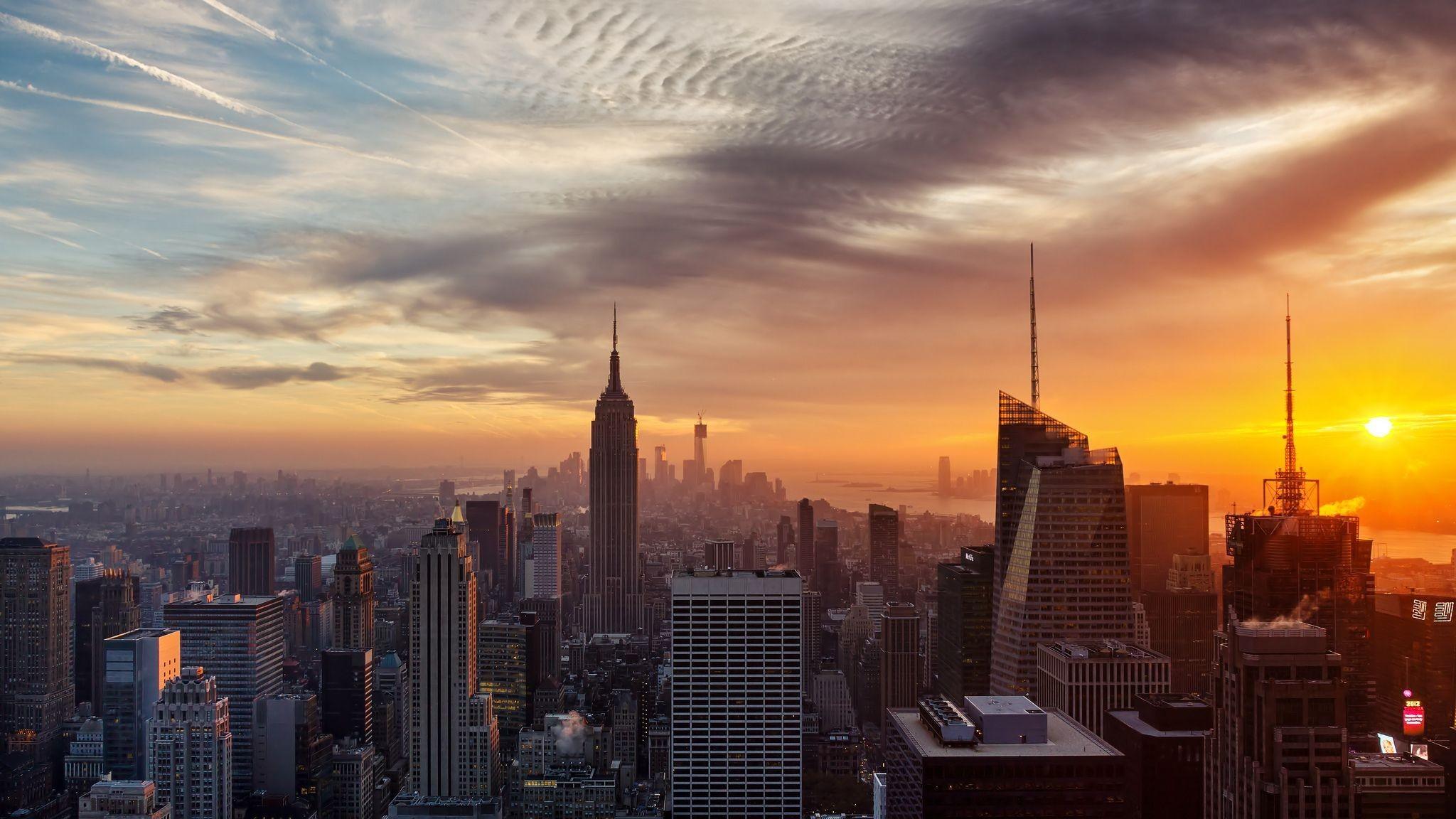 New York City Winter Sunset Wallpapers