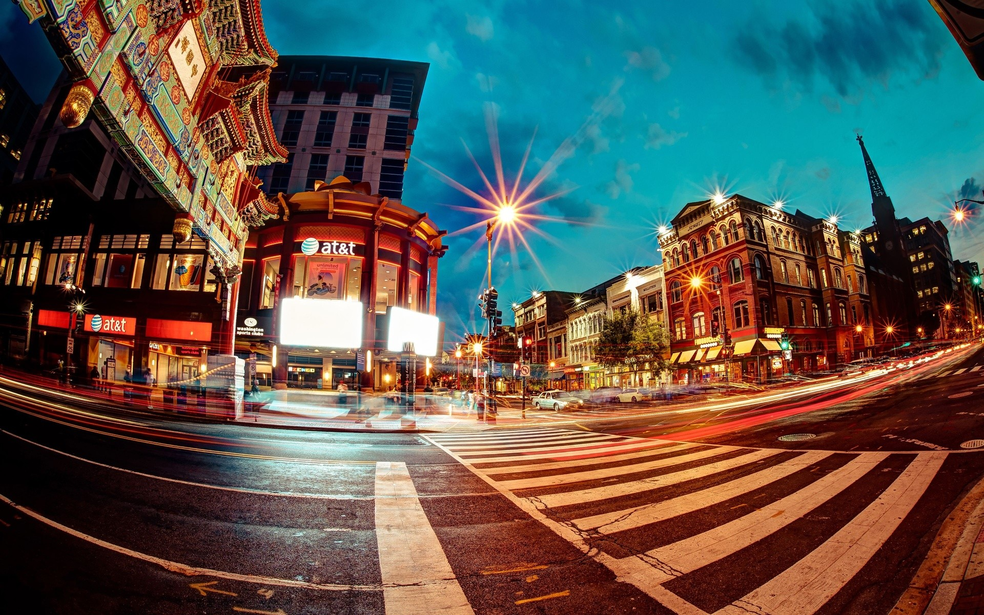 Photography – Fisheye Architecture Building Place Street Road People Light  Time-Lapse City Wallpaper