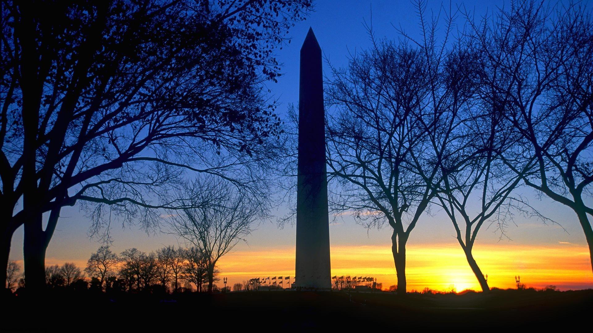 Blue Sky Sunset Washington Monument Washington DC HD Wallpaper – Creative  Pics