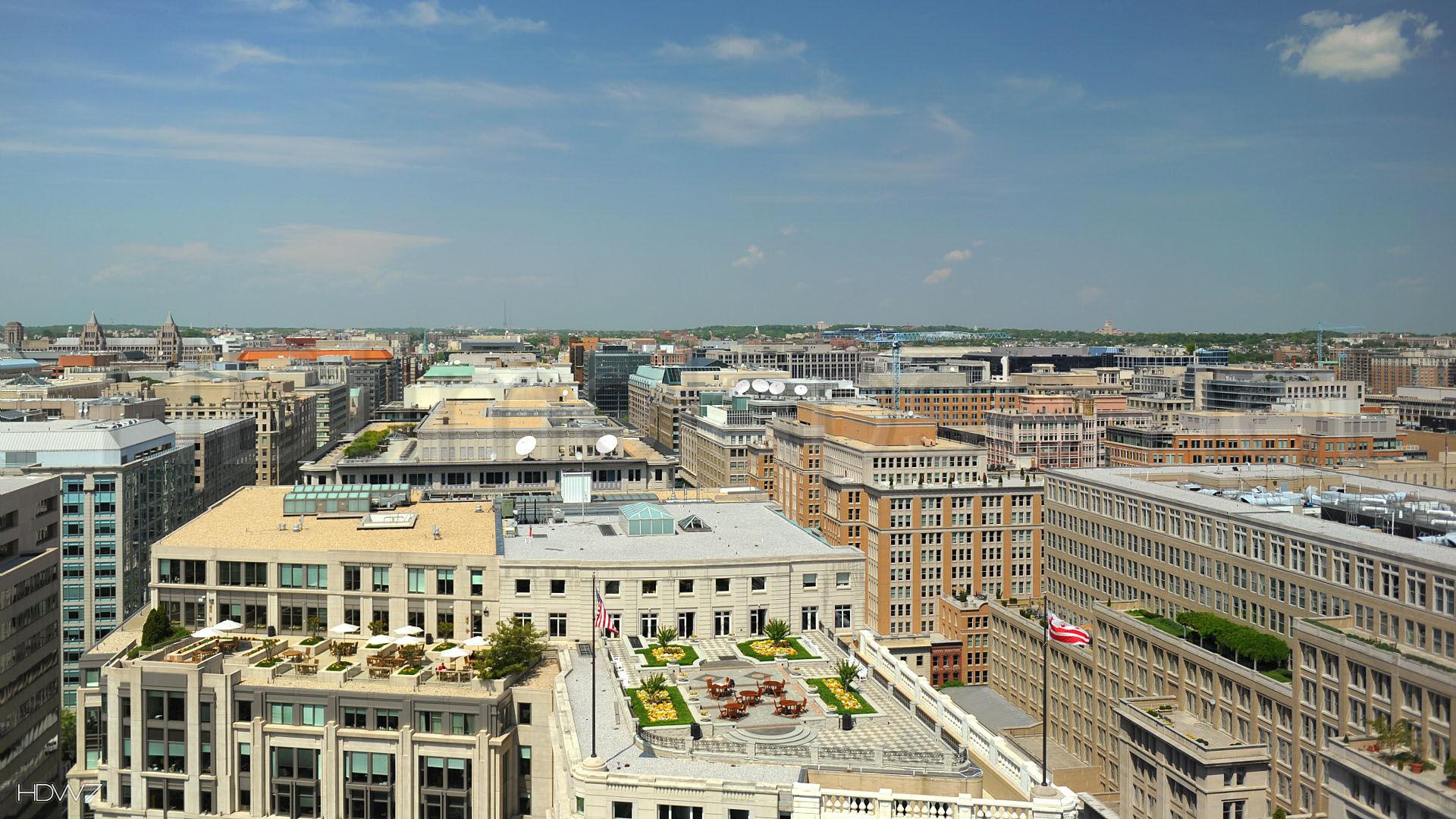 aerial cityscape of washington dc landscape united states