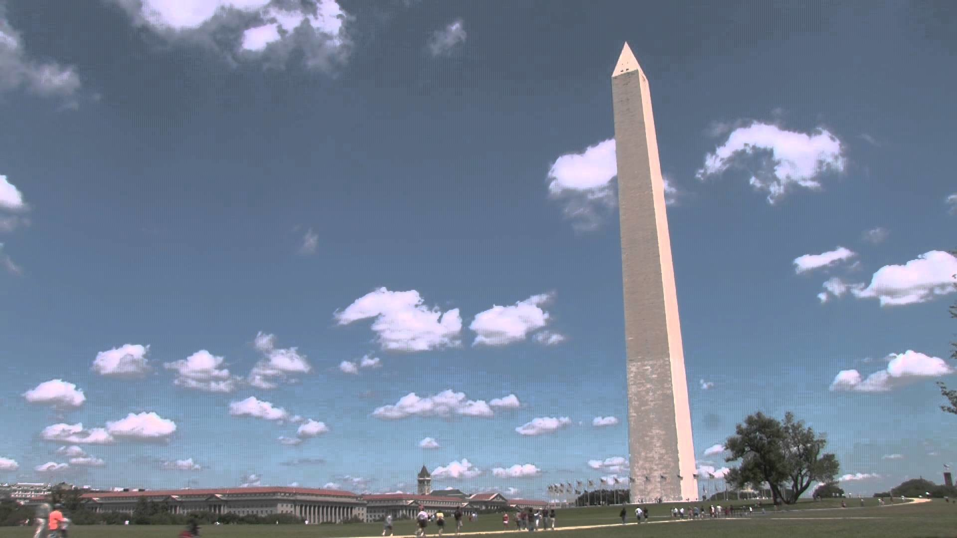 Time Lapse Washington DC HD Video of National Mall Washington Monument  Tourists and Visitors to US