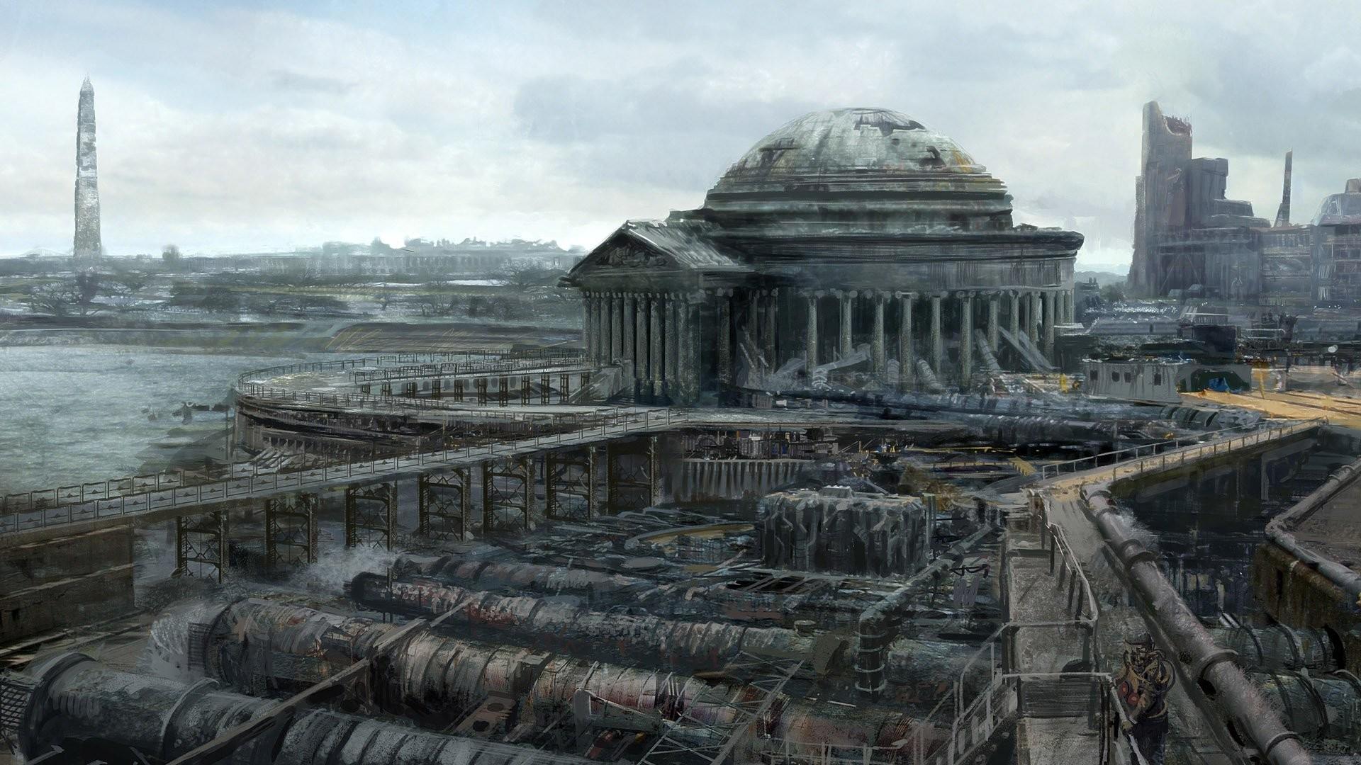 Concept Art Fallout Jefferson Memorial Washington DC Monument