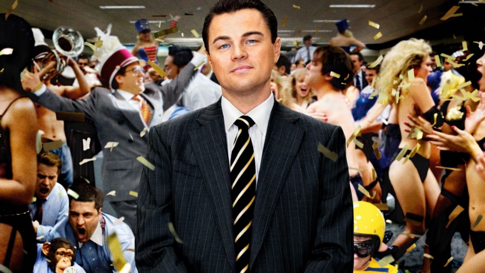 Wallpaper of Leonardo DiCaprio The Wolf of Wall Street for iPad