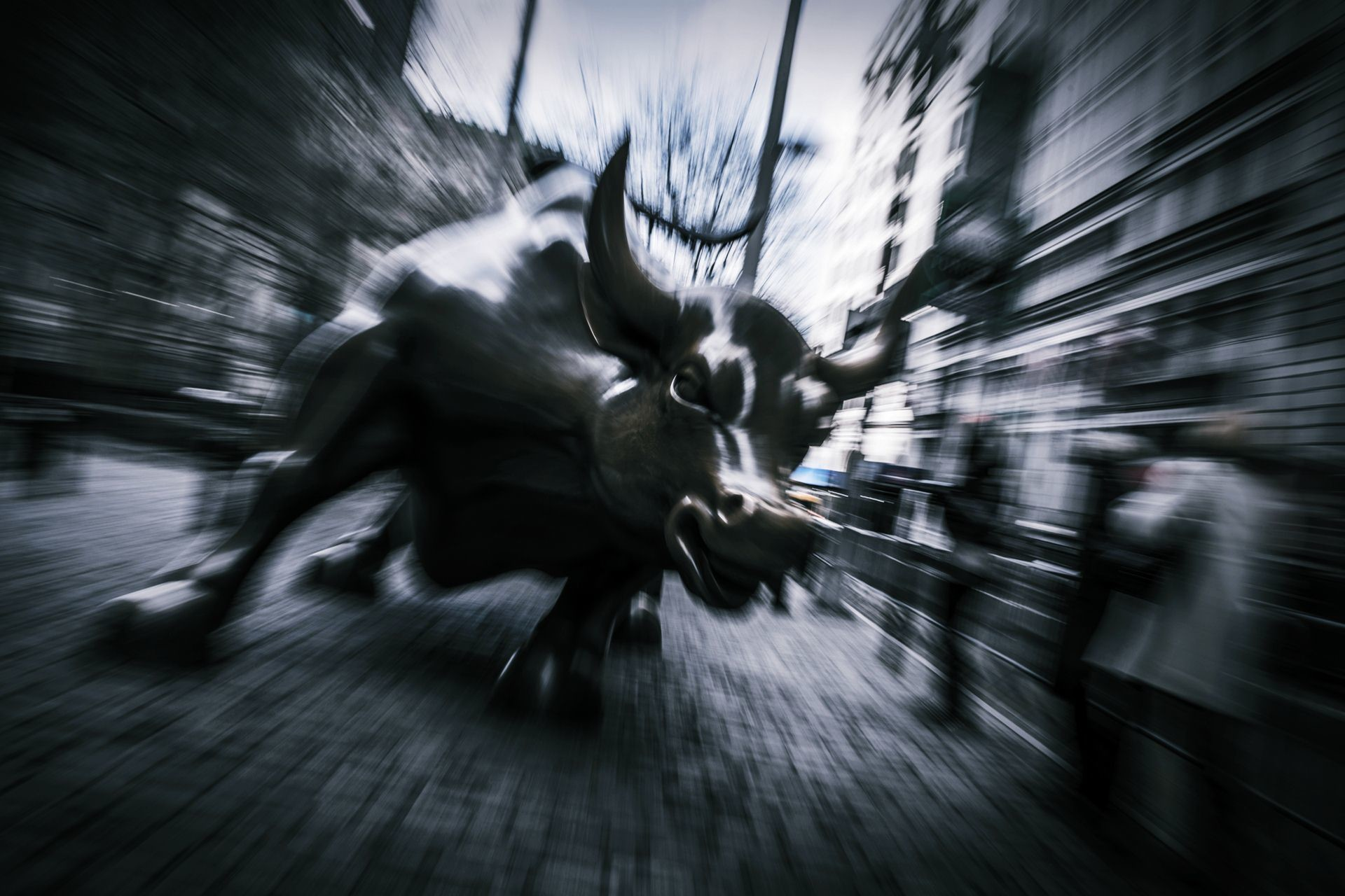 Charging Bull (Wall Street Bull) Art Wallpaper