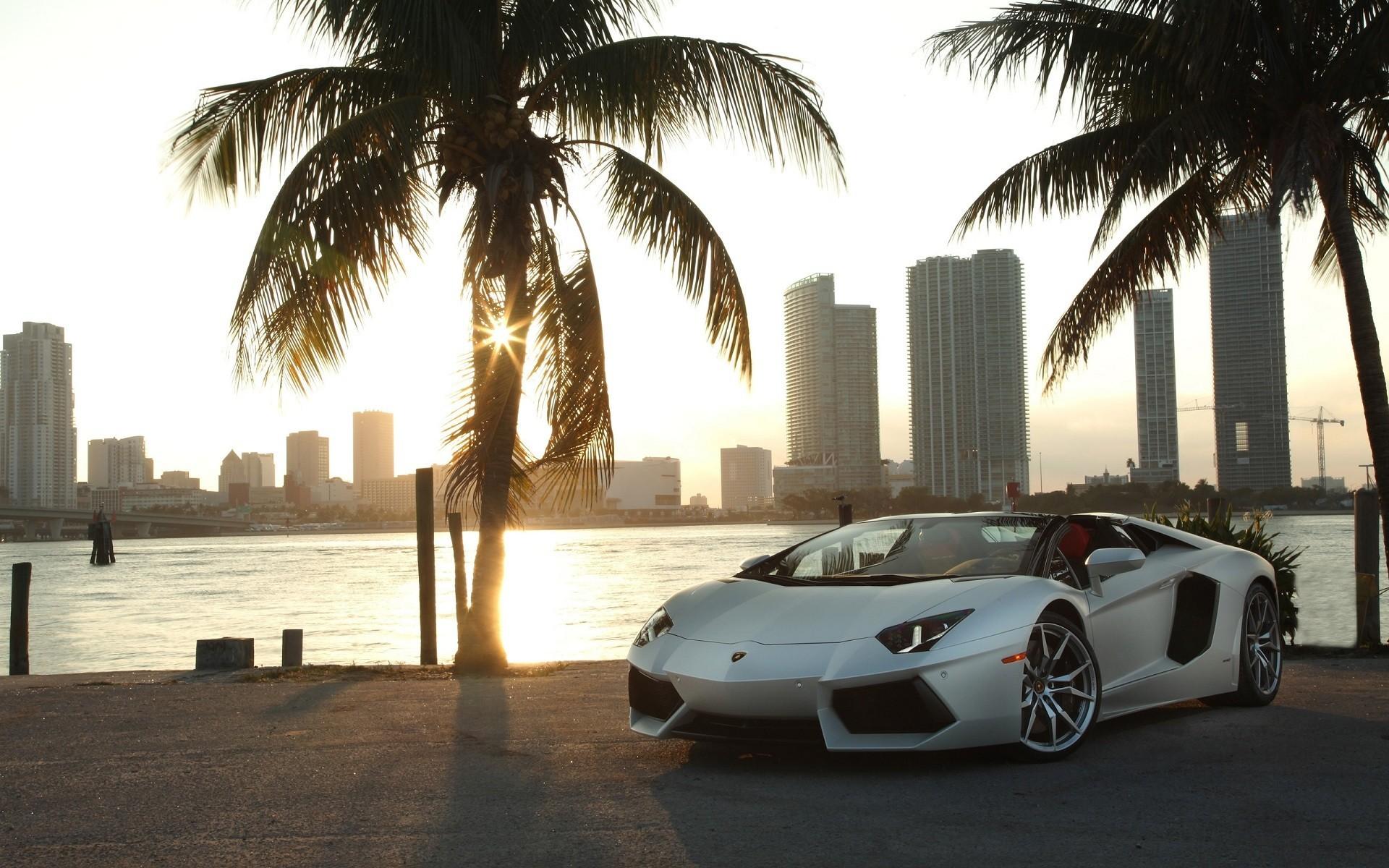 Lamborghini, Lamborghini Aventador LP700 4 Roadster, Lamborghini Aventador, Miami  Wallpapers HD / Desktop and Mobile Backgrounds