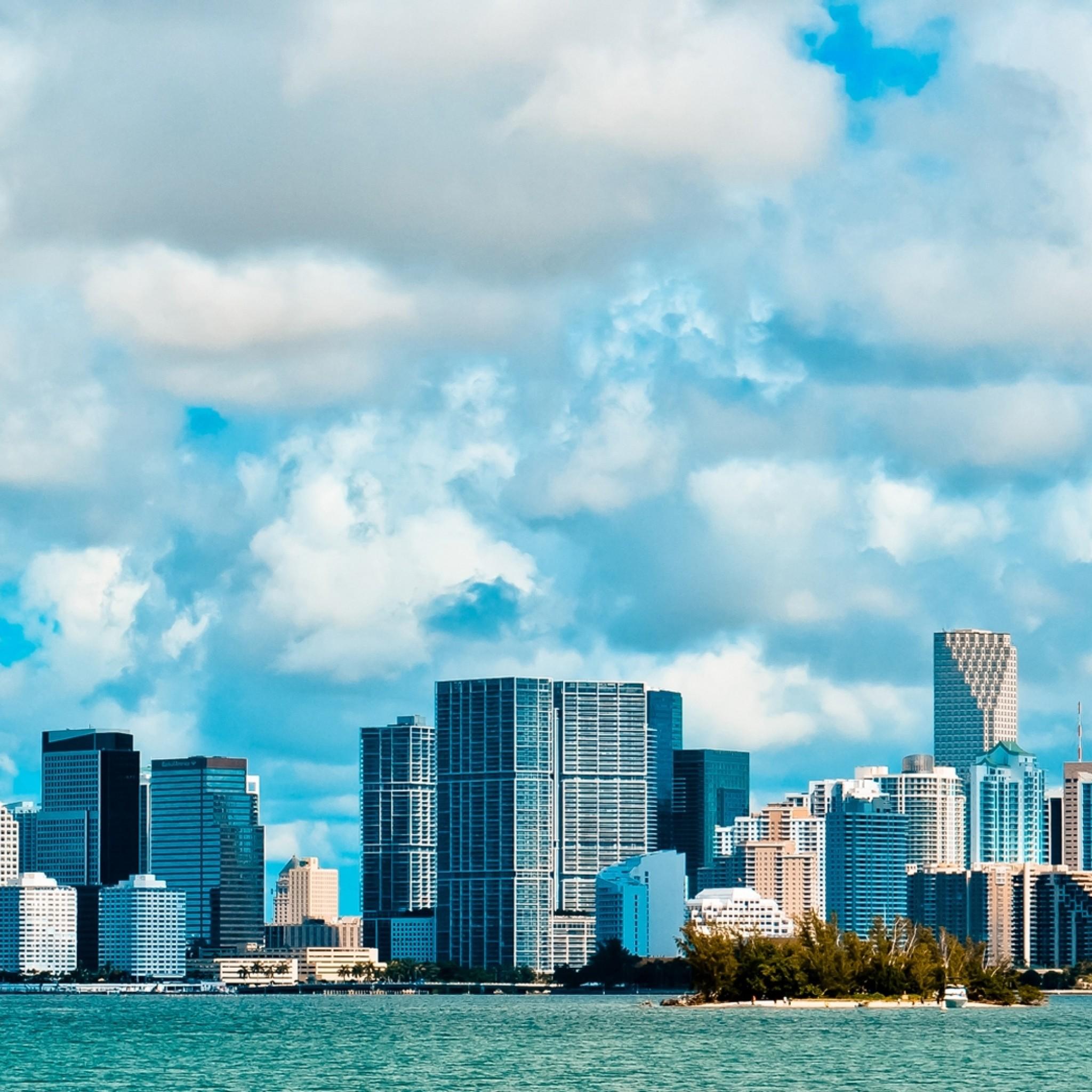 Preview wallpaper miami, usa, america, miami beach, sky, clouds, buildings