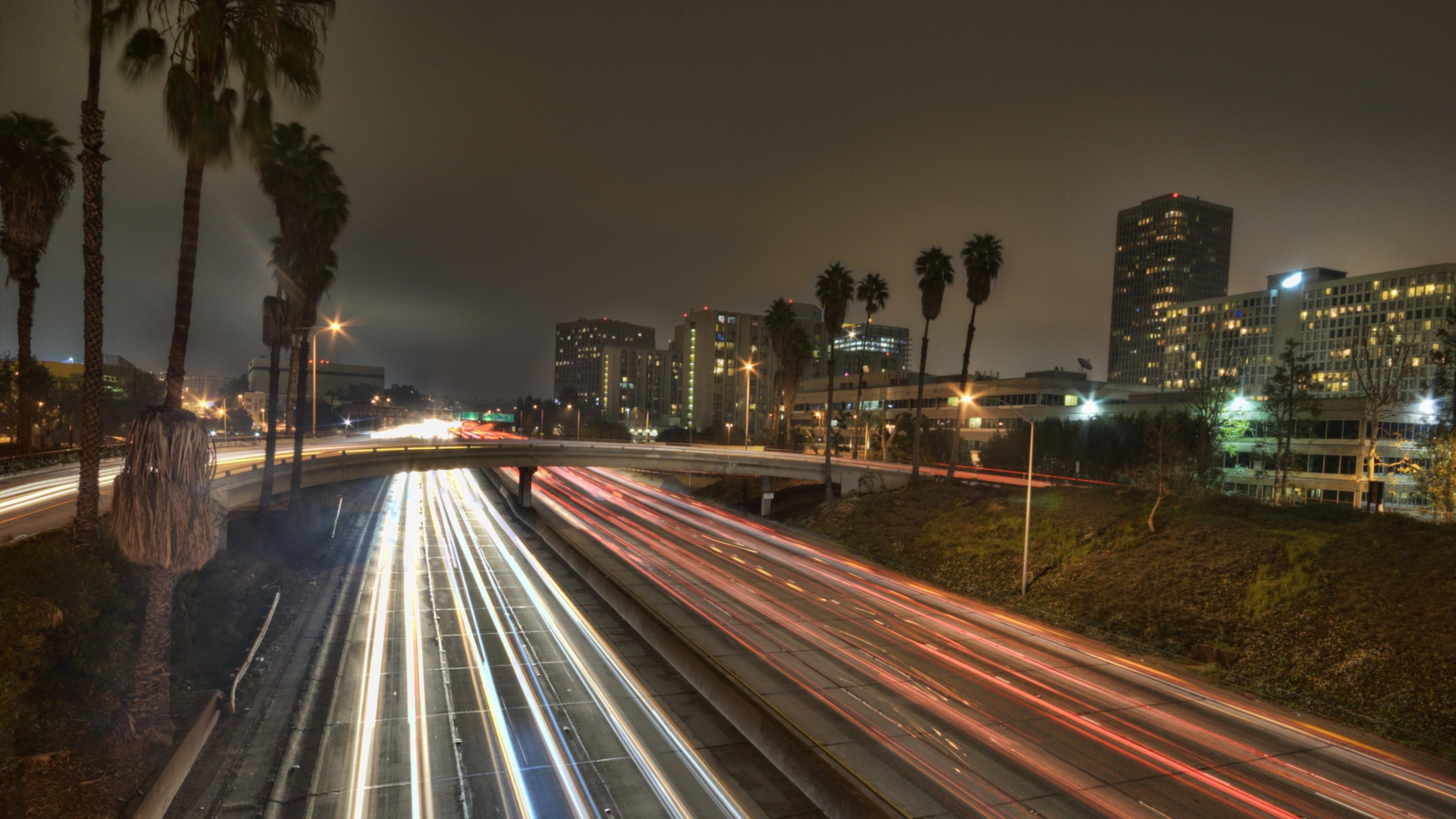Wallpaper los angeles, city, america, california, usa, road