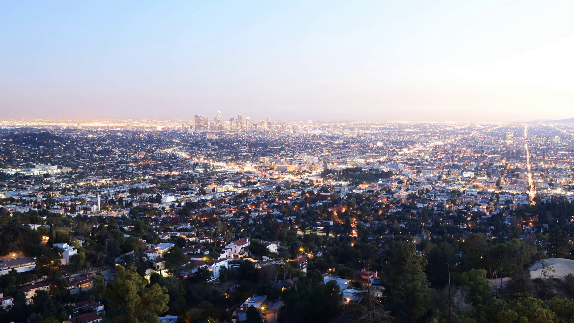 4K Downtown Los Angeles Skyline Twilight Time Lapse -Zoom Out- Stock Video  Footage – VideoBlocks