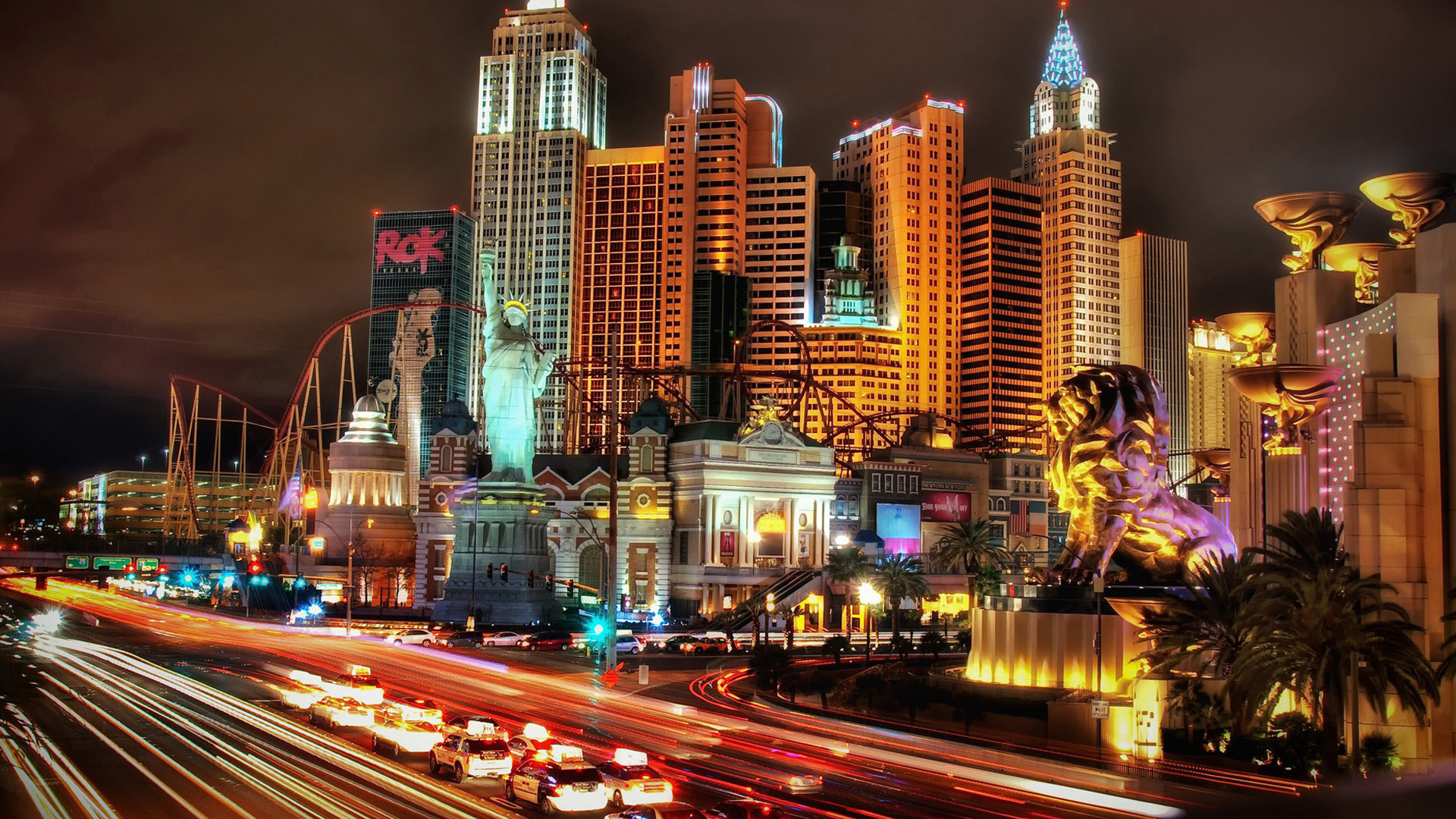 60 City Lights Background
