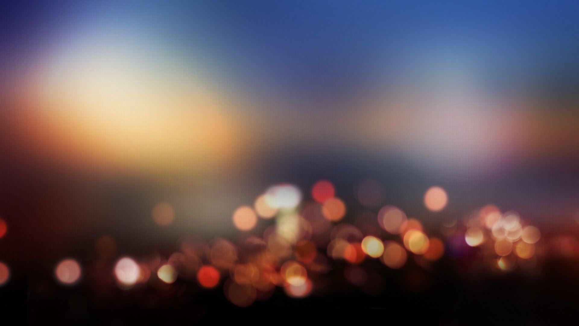 Blurred City Lights Wallpaper 7607