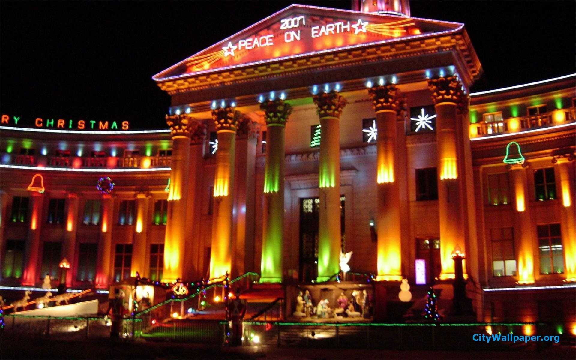 Denver City And County Building Christmas Lights