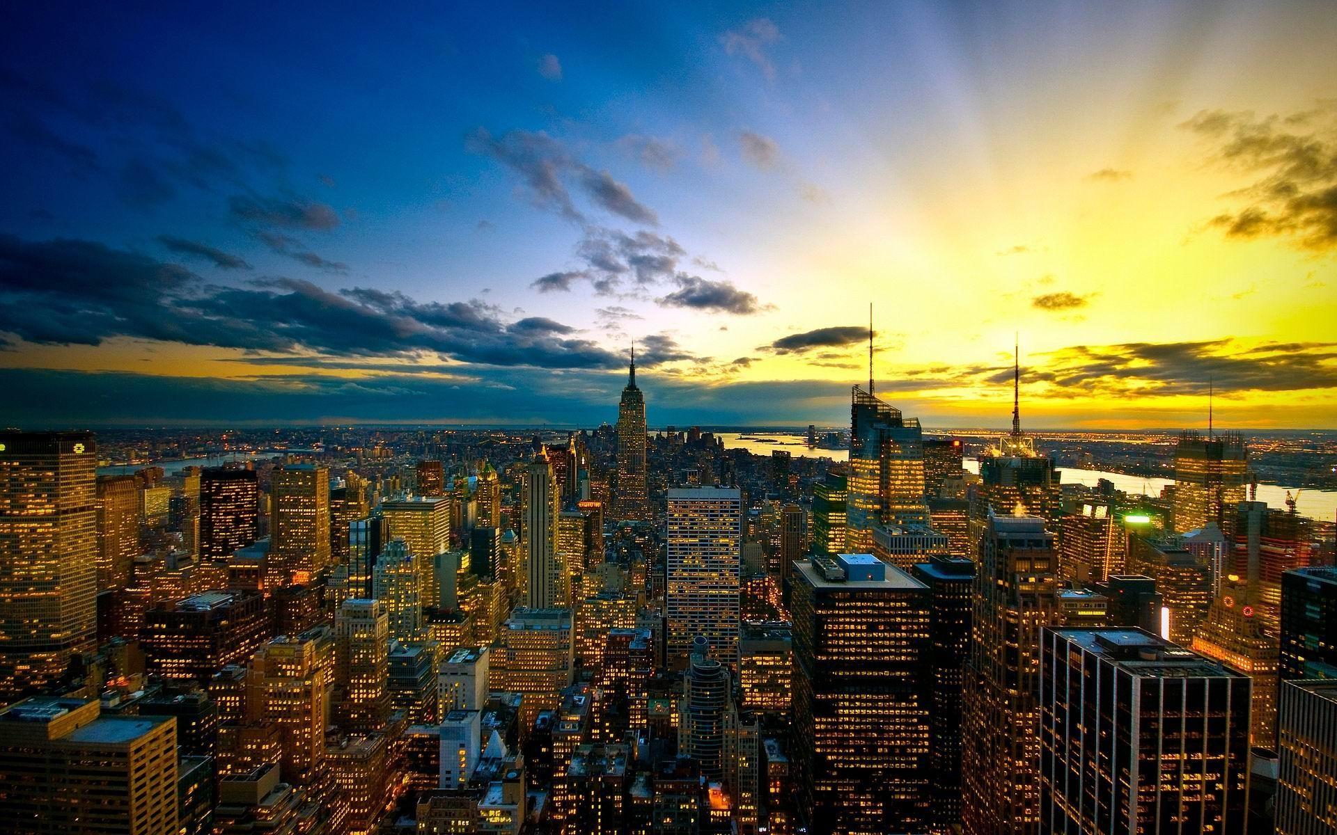 Images for Gt New York City Skyline Wallpaper Sunrise 1920x1200px