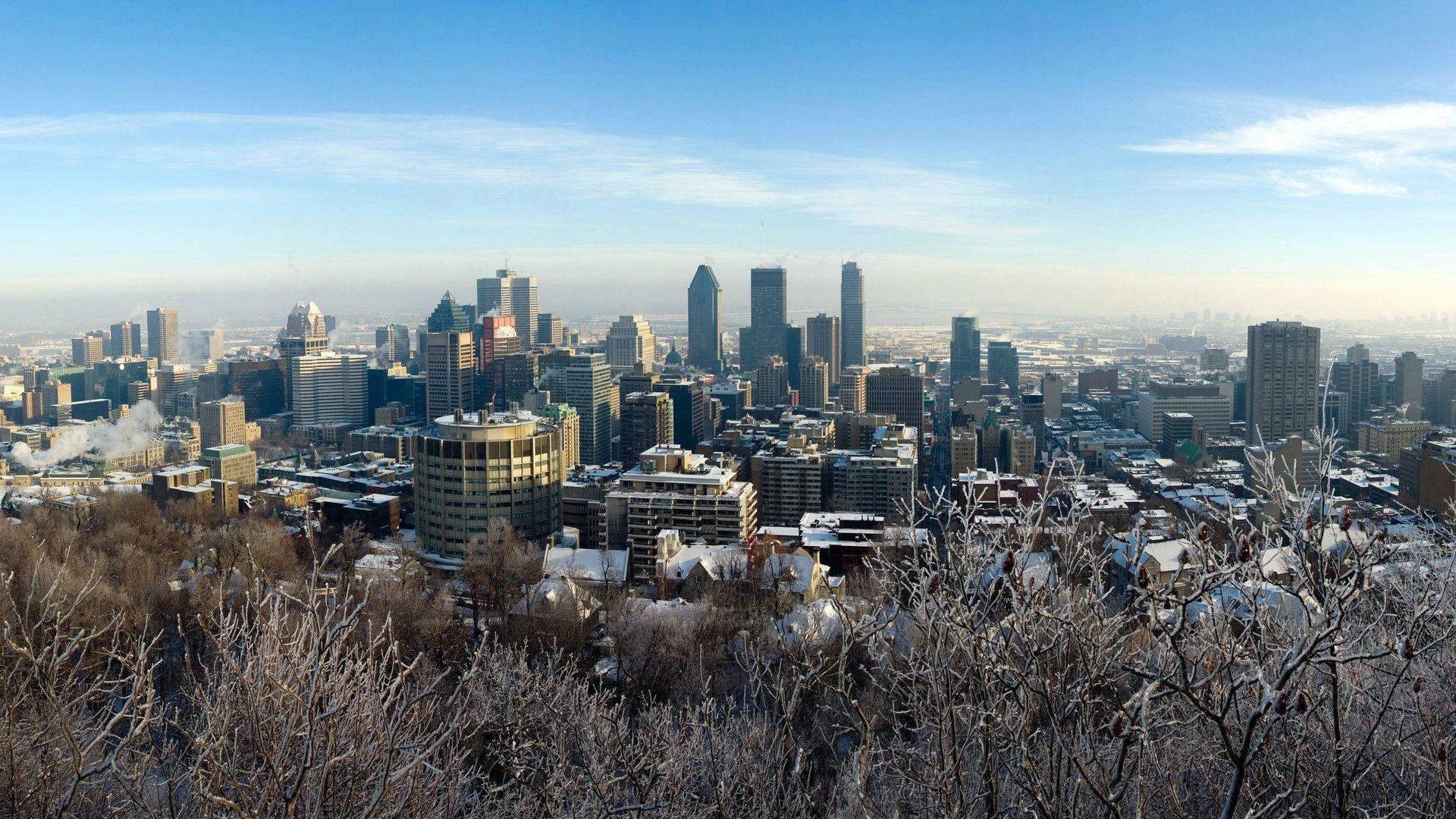 Montreal City Skyline wallpaper