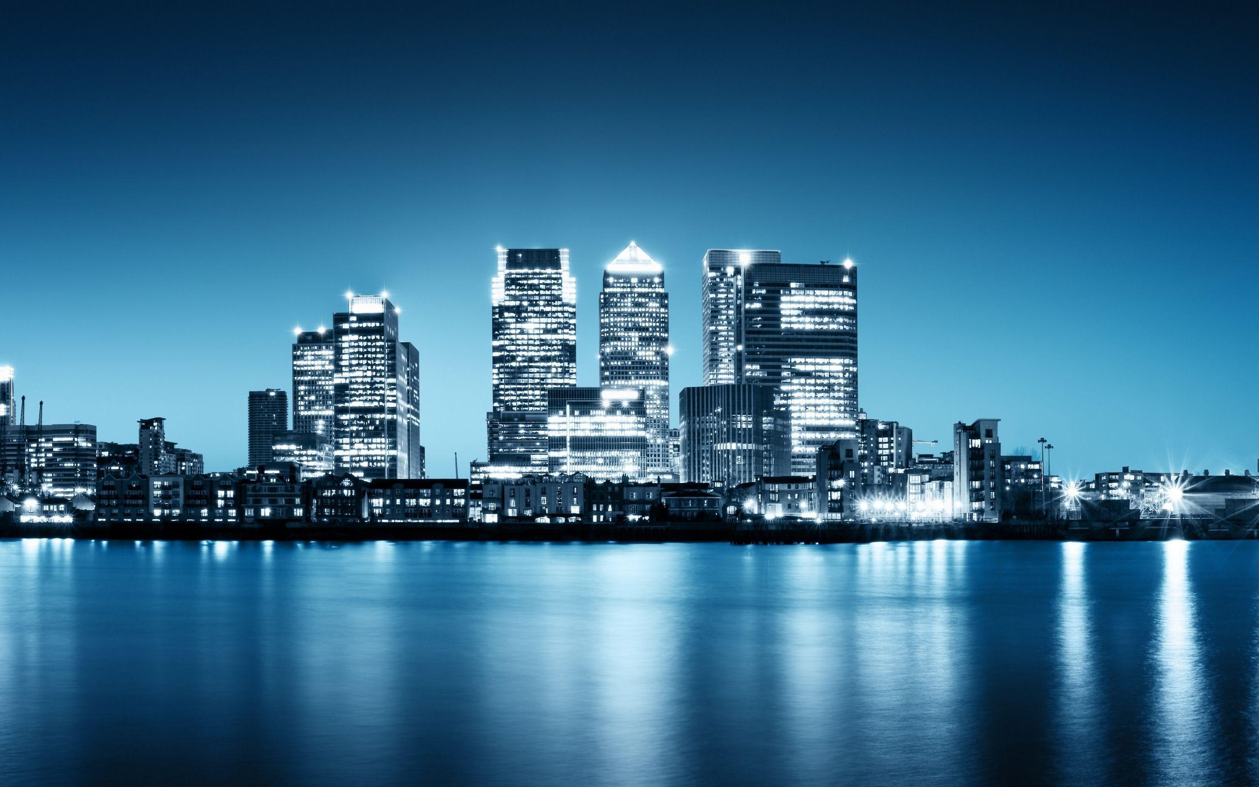City Night Skyline Wallpapers