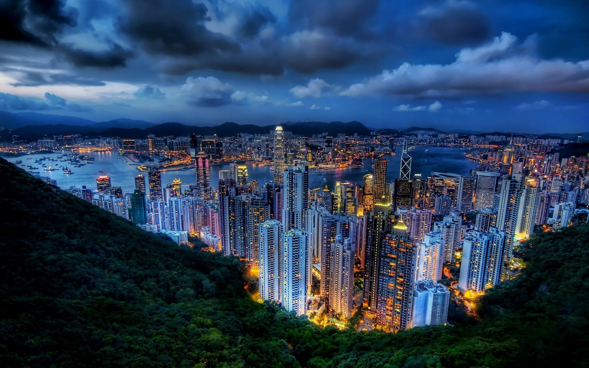 Cityscapes buildings hong kong city skyline wallpaper | | 16060 |  WallpaperUP
